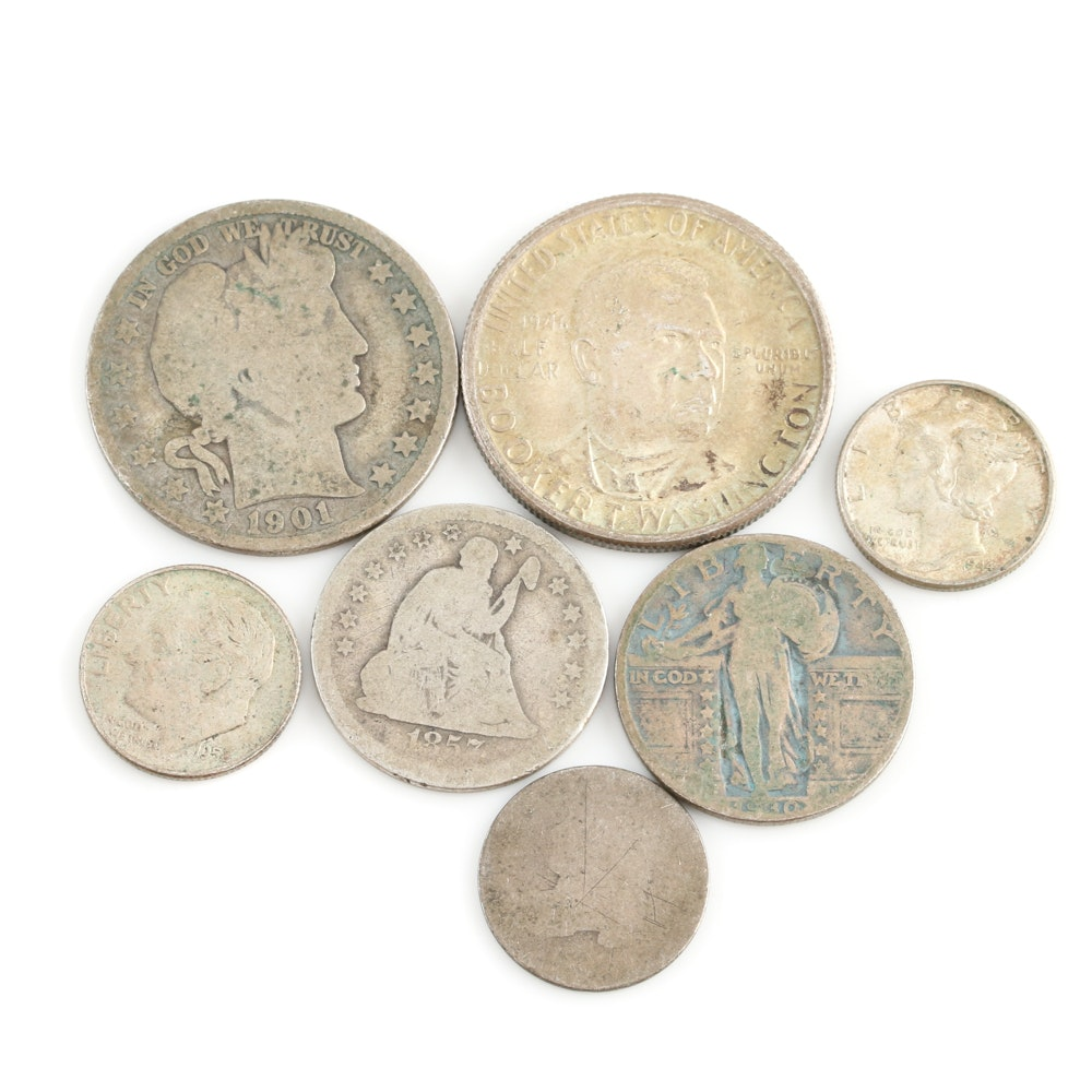 Assortment of Antique and Vintage U.S. Silver Coins