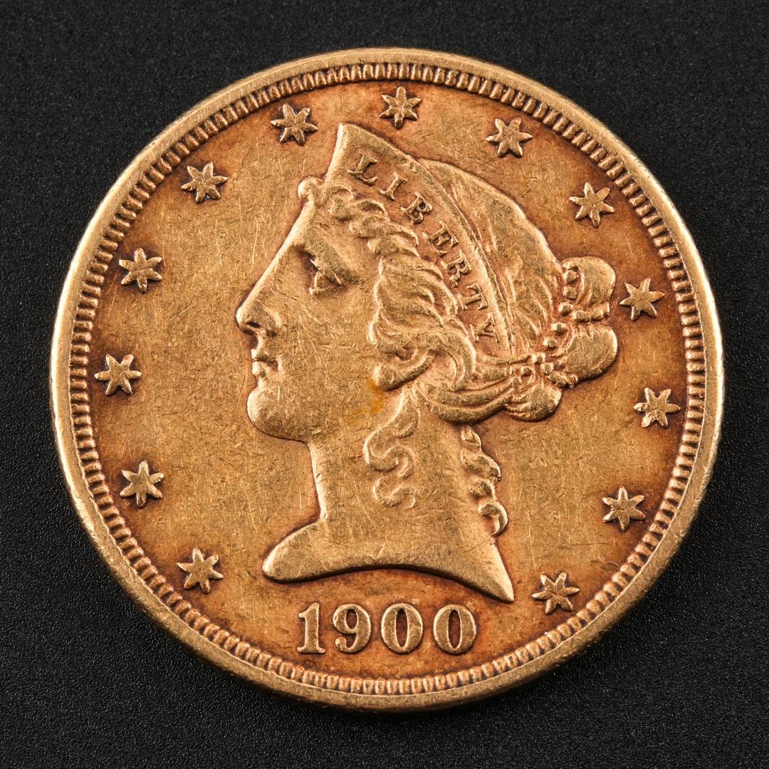 1900-P Liberty Head $5 Gold Half Eagle