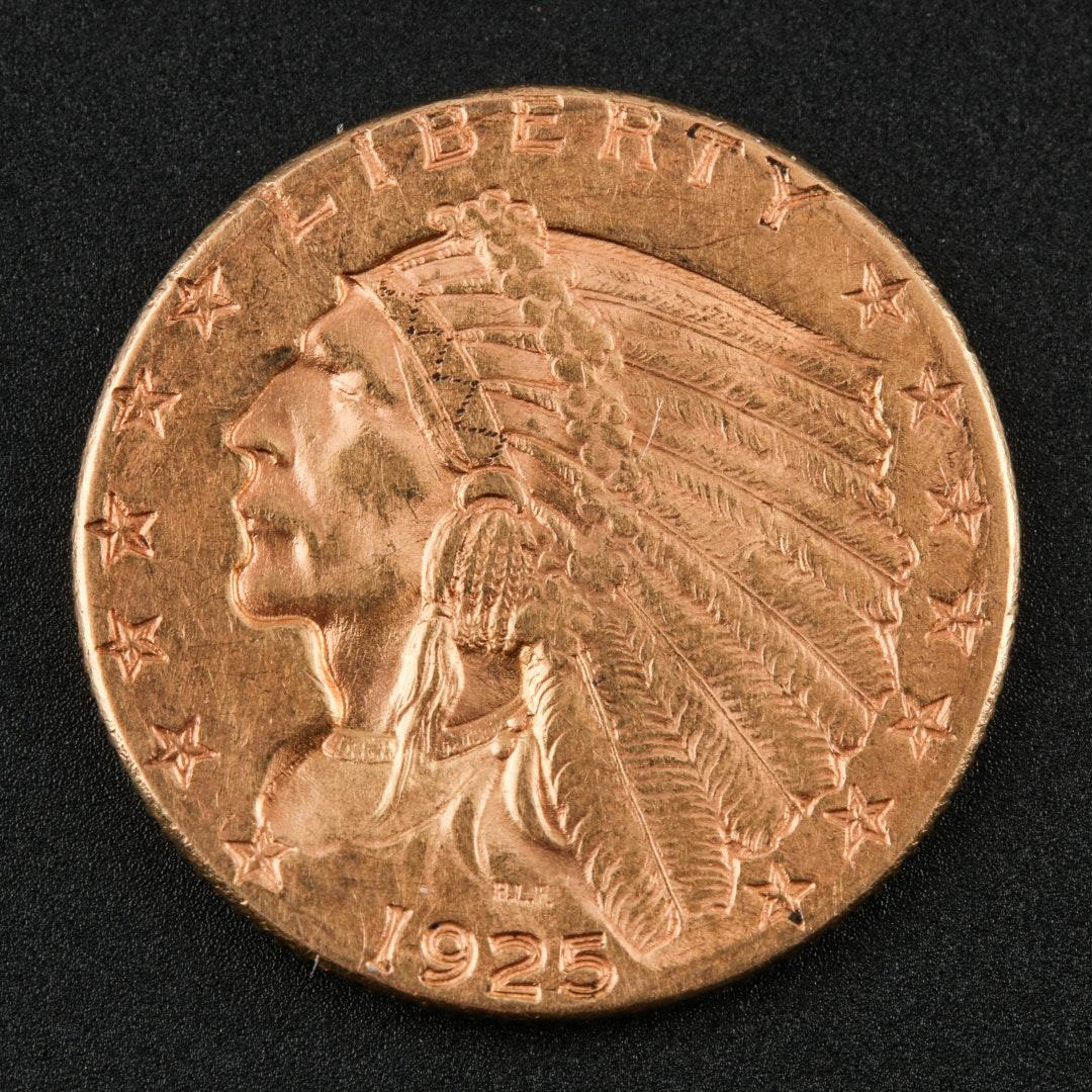 1925 Indian Head $2.50 Gold Quarter Eagle