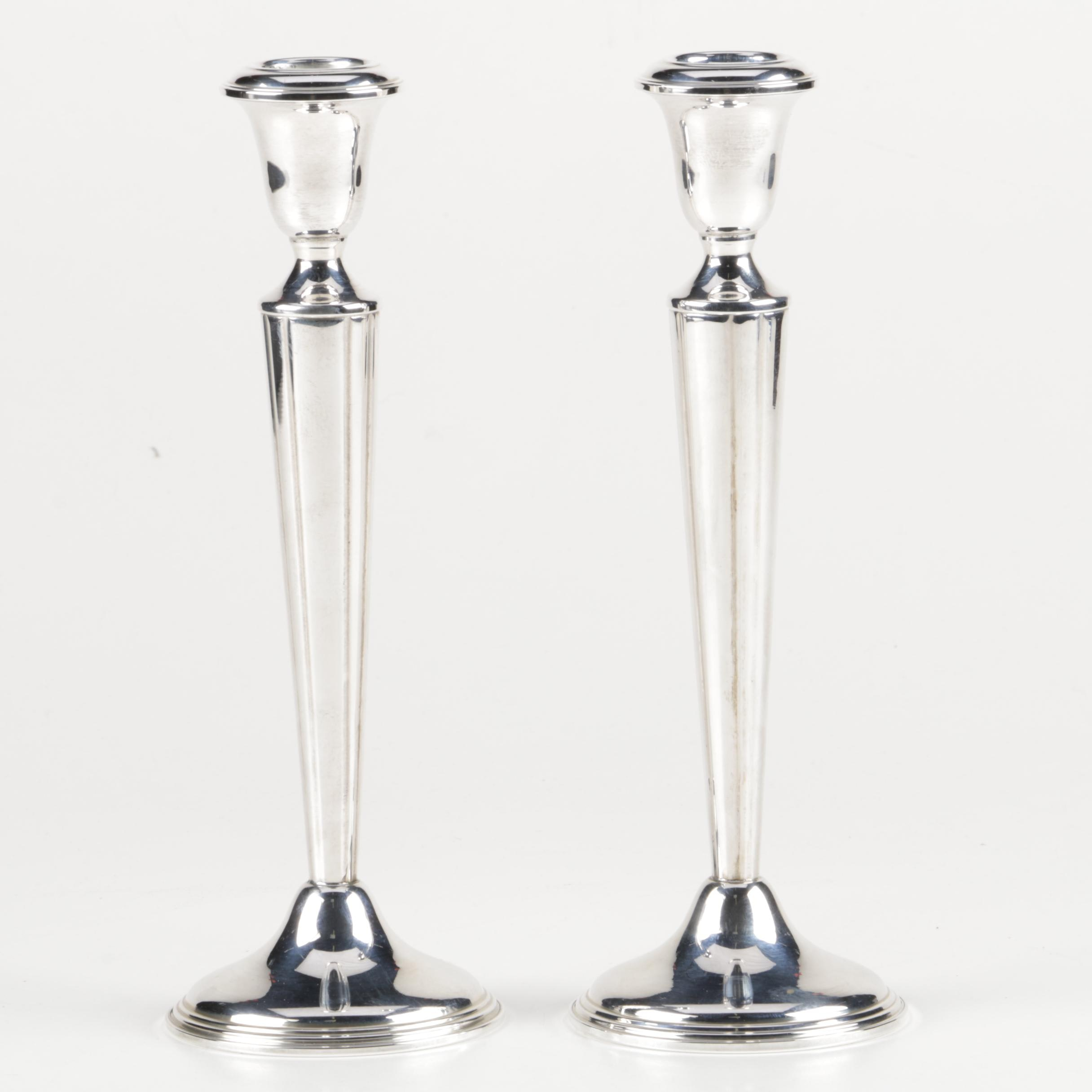 B. Altman's Weighted Sterling Silver Candleholders