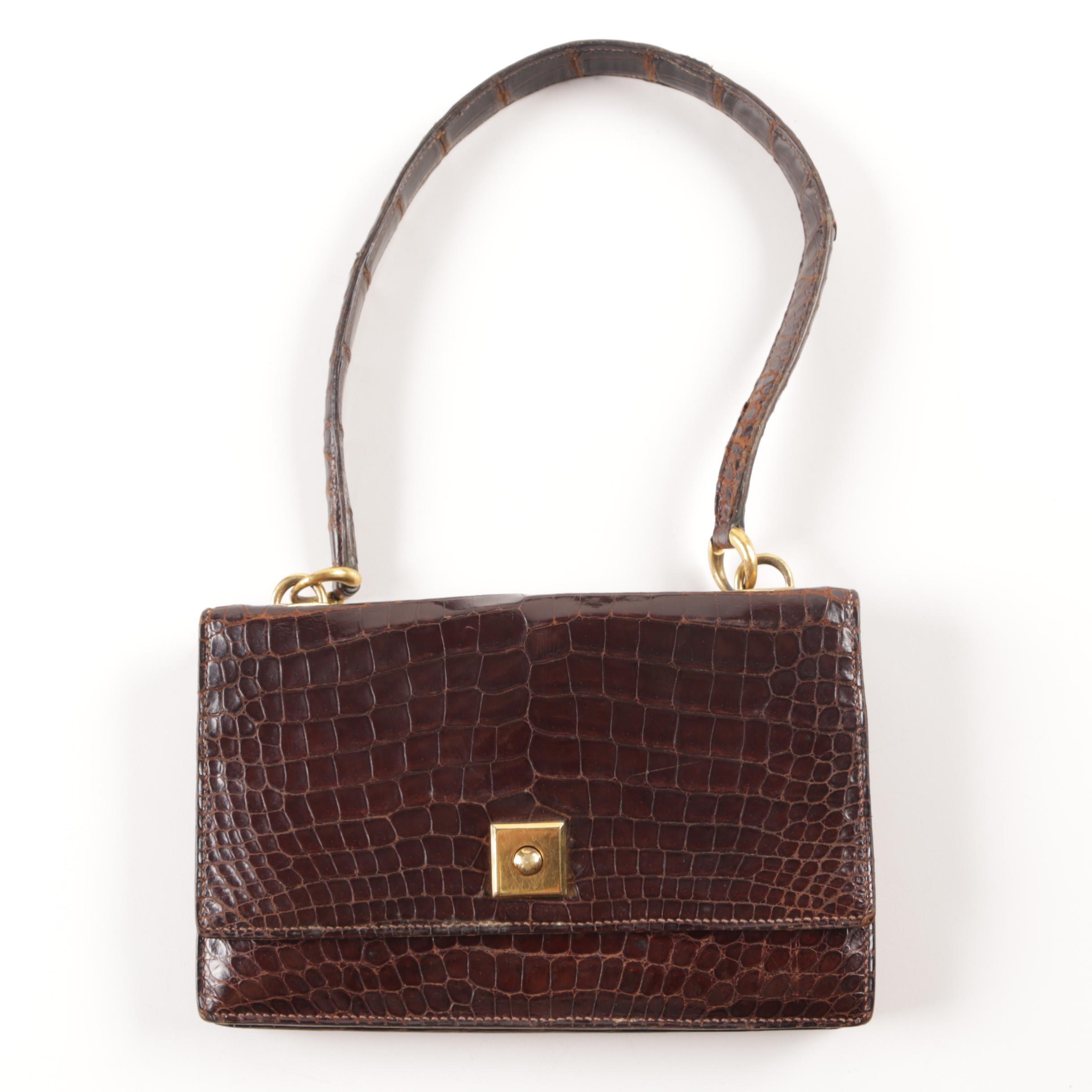 Vintage Hermès Crocodile Handbag