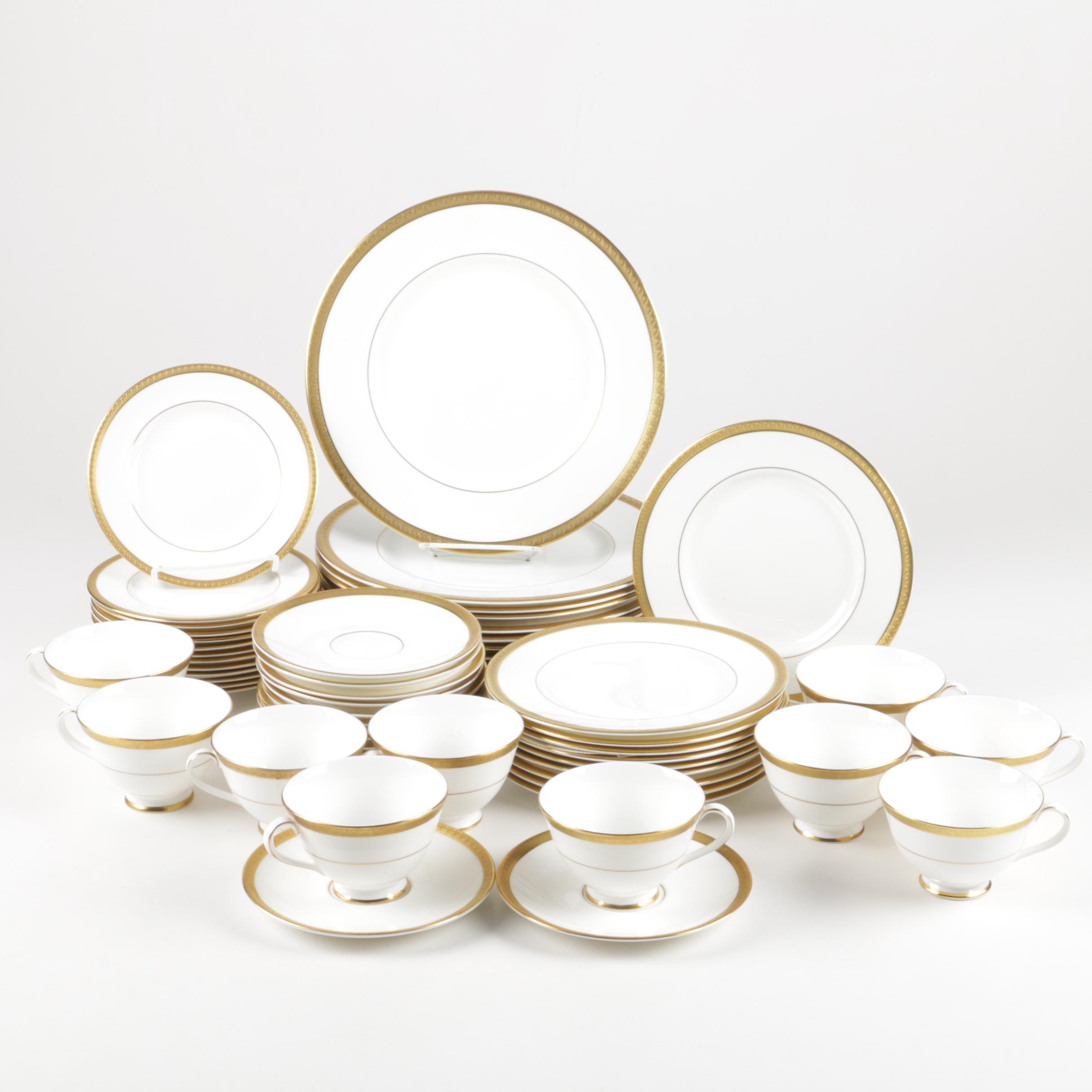 "Royal Doulton ""Royal Gold"" Bone China Dinner Service"