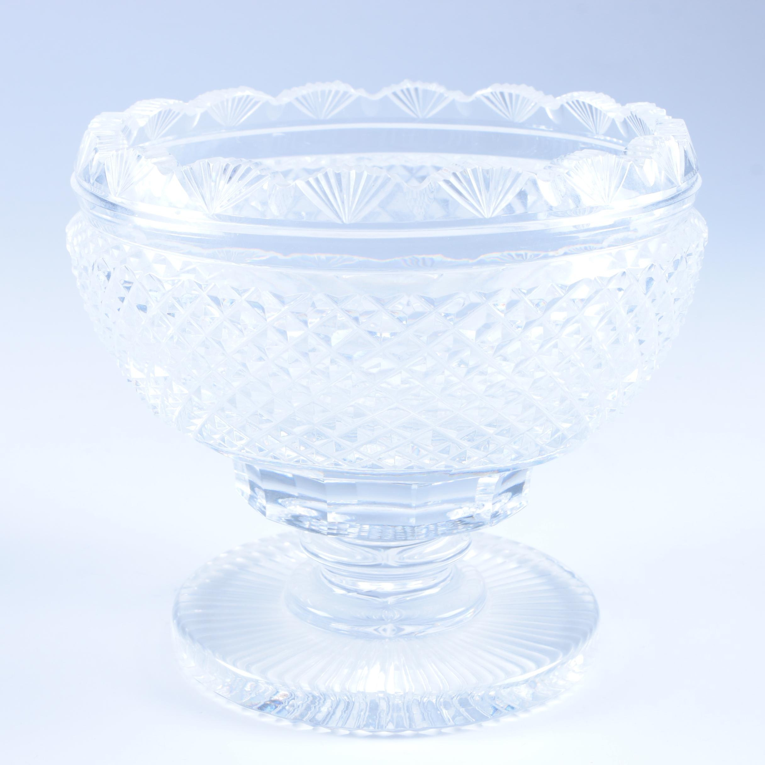 "Waterford ""Master Cut"" Crystal Compote"