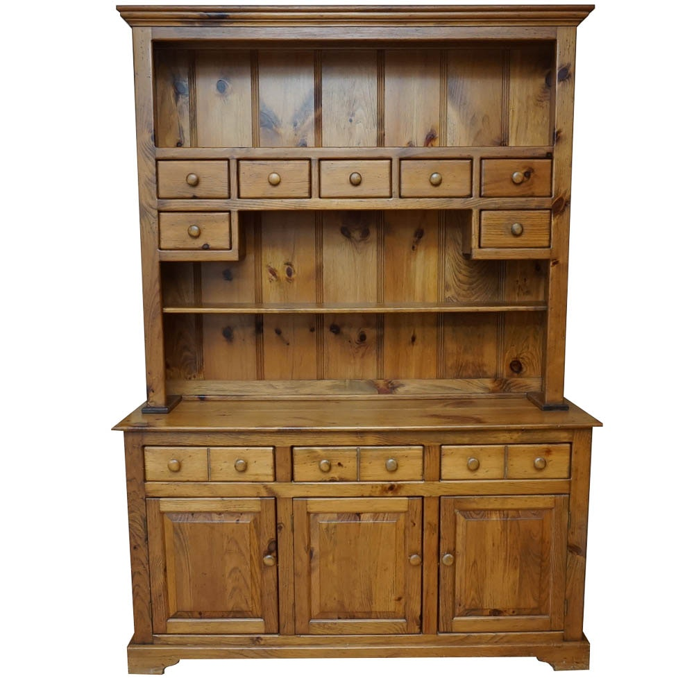 Pine Hutch-on-Cabinet by American Heritage Furniture