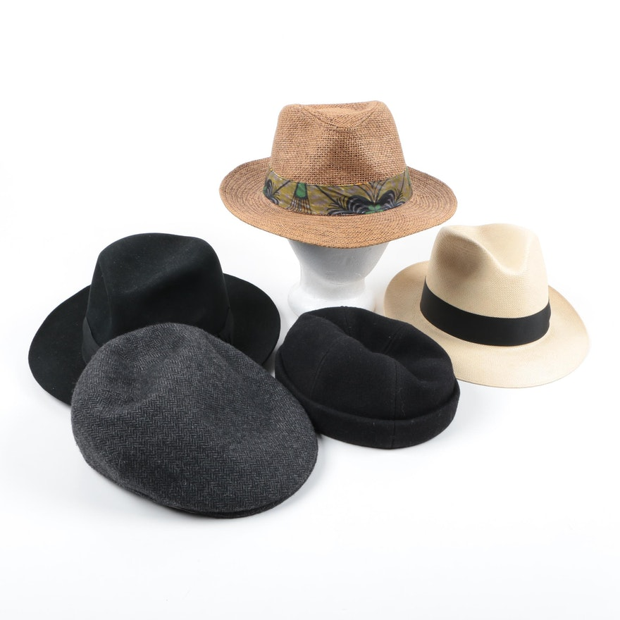 0be407c5be9 Fedoras and Caps Including Indiana Jones Stetson and Shantung Panama Dobbs    EBTH