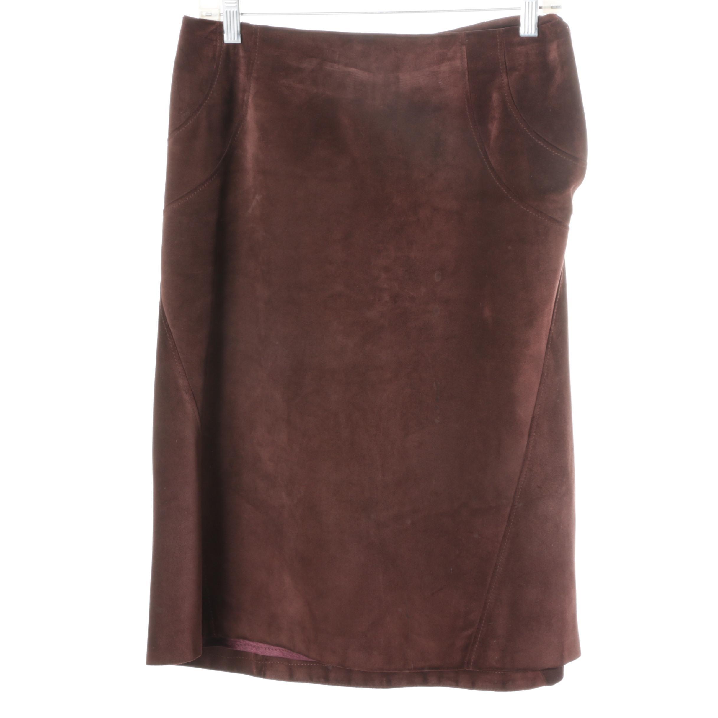 Valentino Suede Skirt
