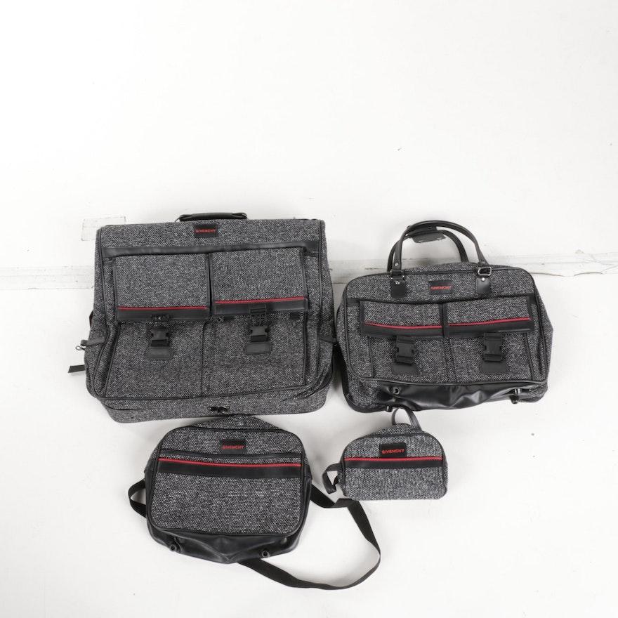 e2530c48145f Vintage Givenchy Tweed Luggage Set   EBTH