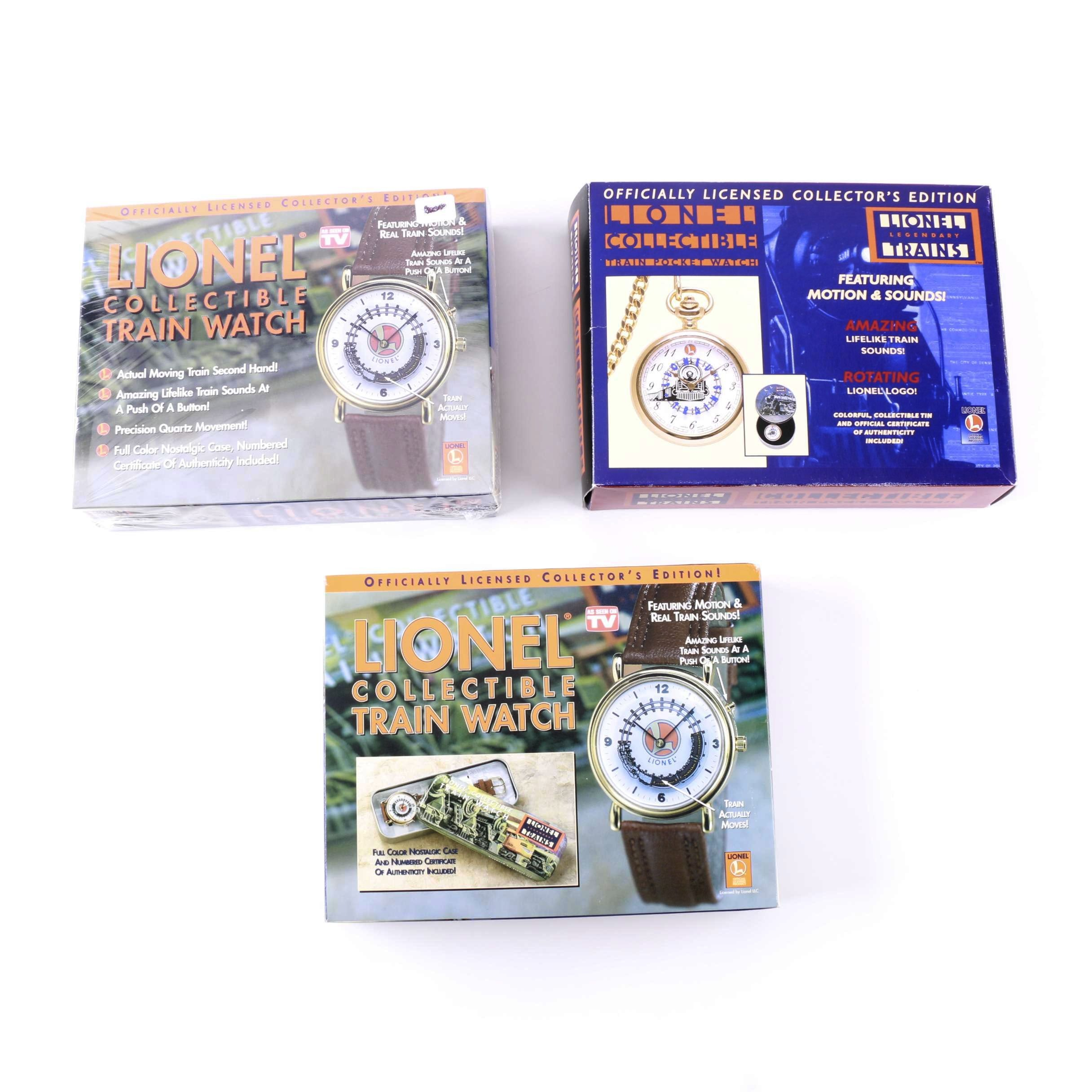 Lionel Collectible Train Watches With Original boxes
