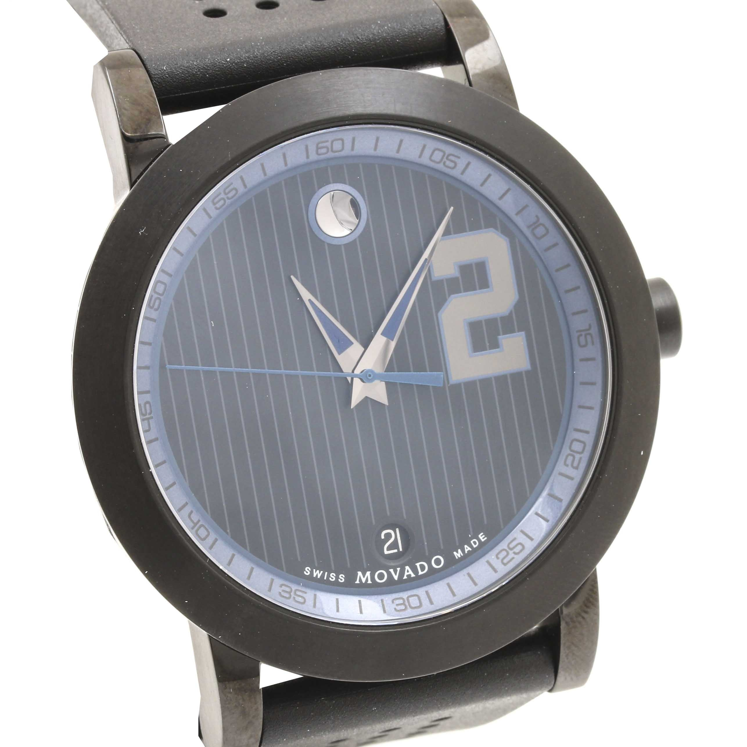 "Movado ""Derek Jeter Captain Series"" Stainless Steel Wristwatch"