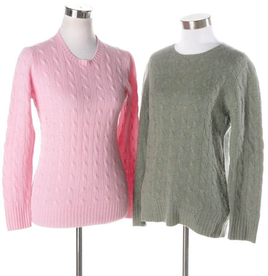 Women's Polo by Ralph Lauren Cashmere Cable Knit Sweaters : EBTH
