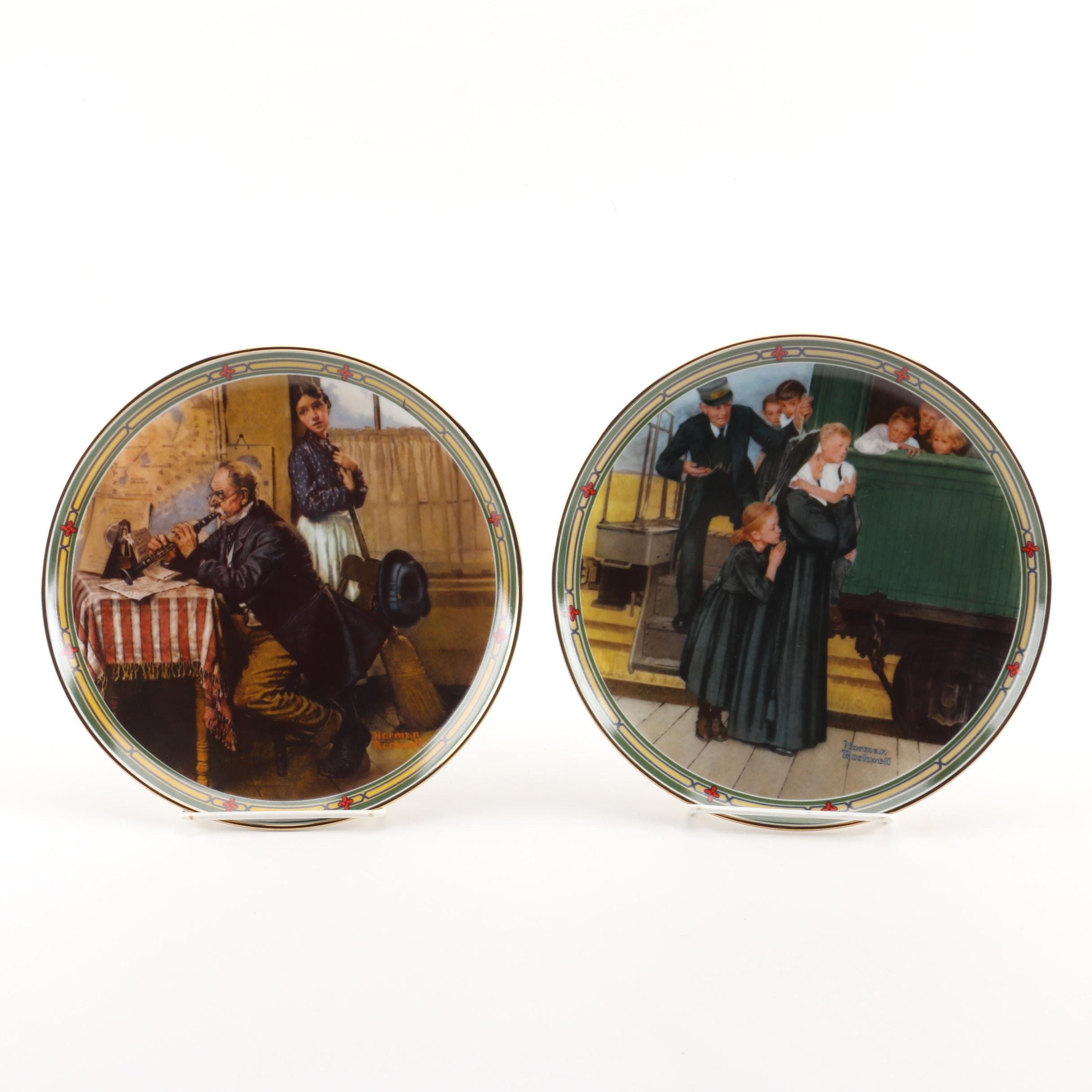 Norman Rockwell Plates by Edwin Knowles China Co.