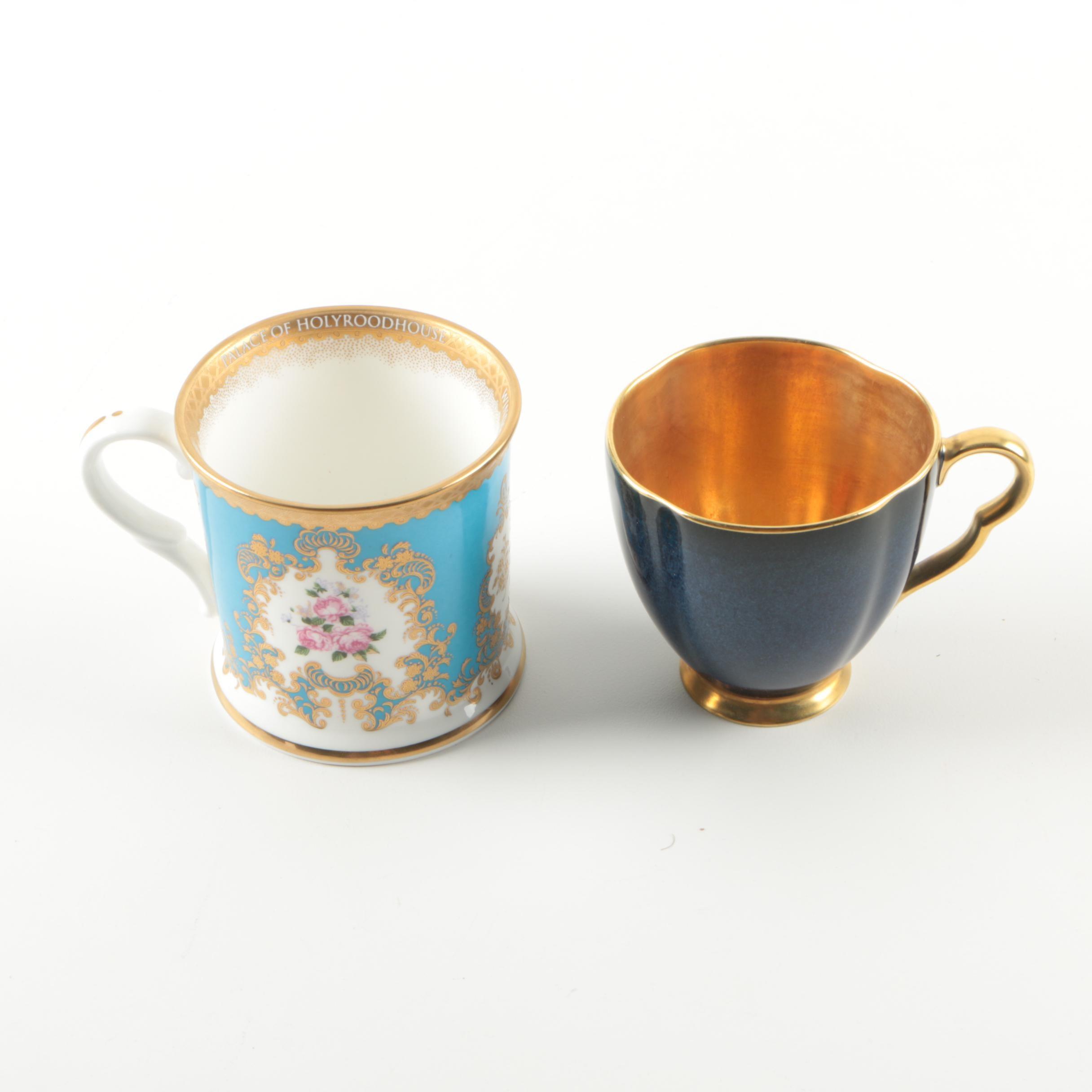 Pair of Ceramic English Cups