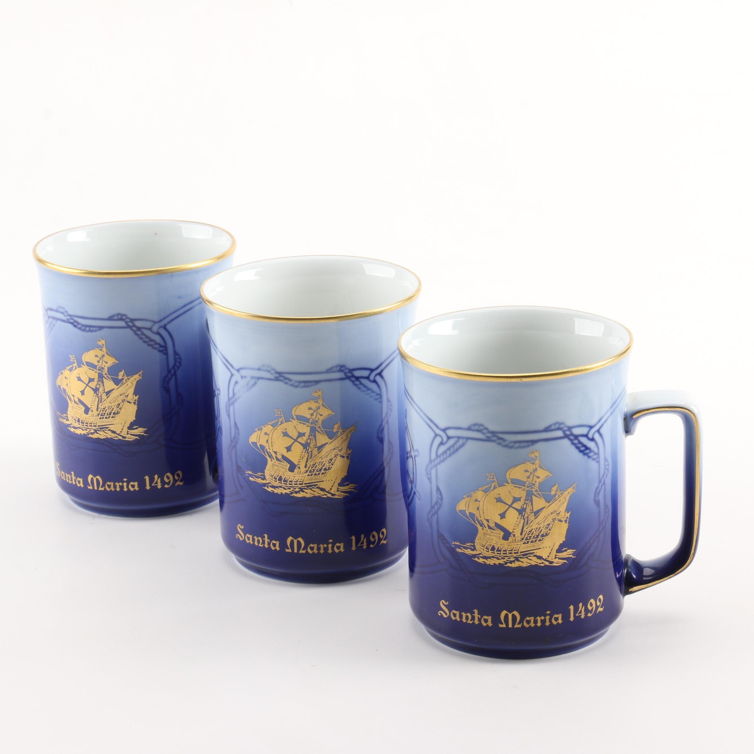 Copenhagen Porcelain Collectible Mugs