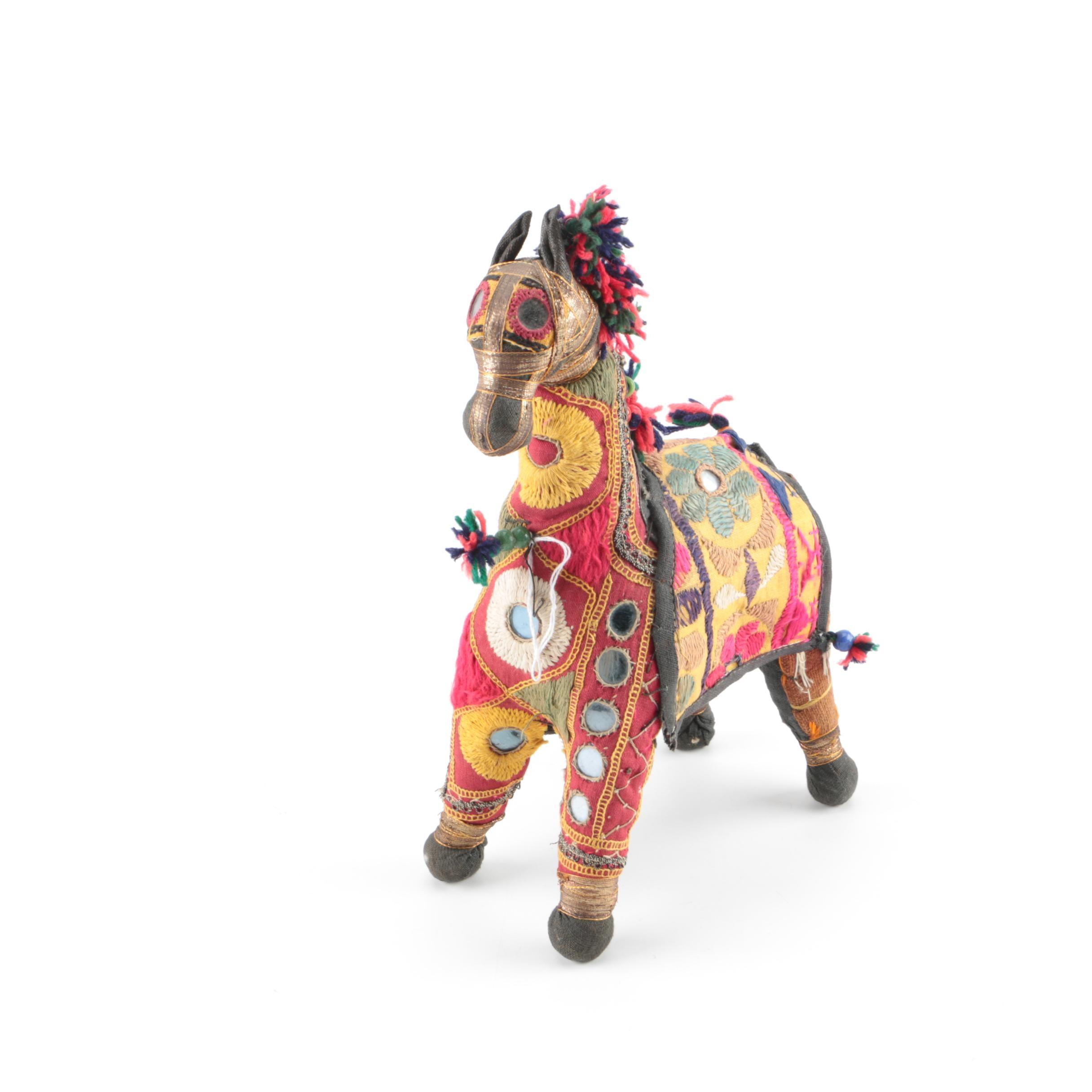 Indian Folk Art Textile Horse