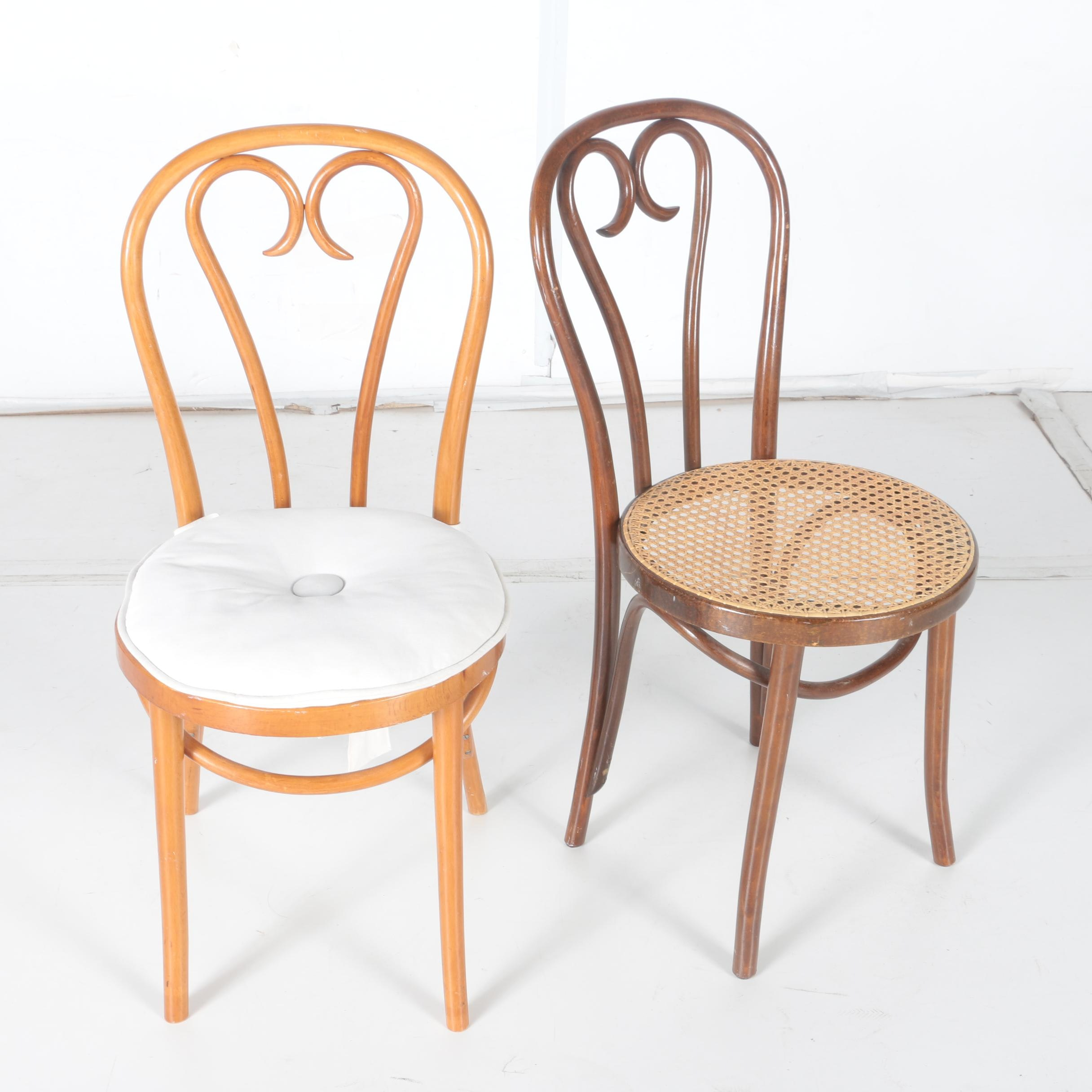 Pair of Vintage Thonet Style Bistro Chairs