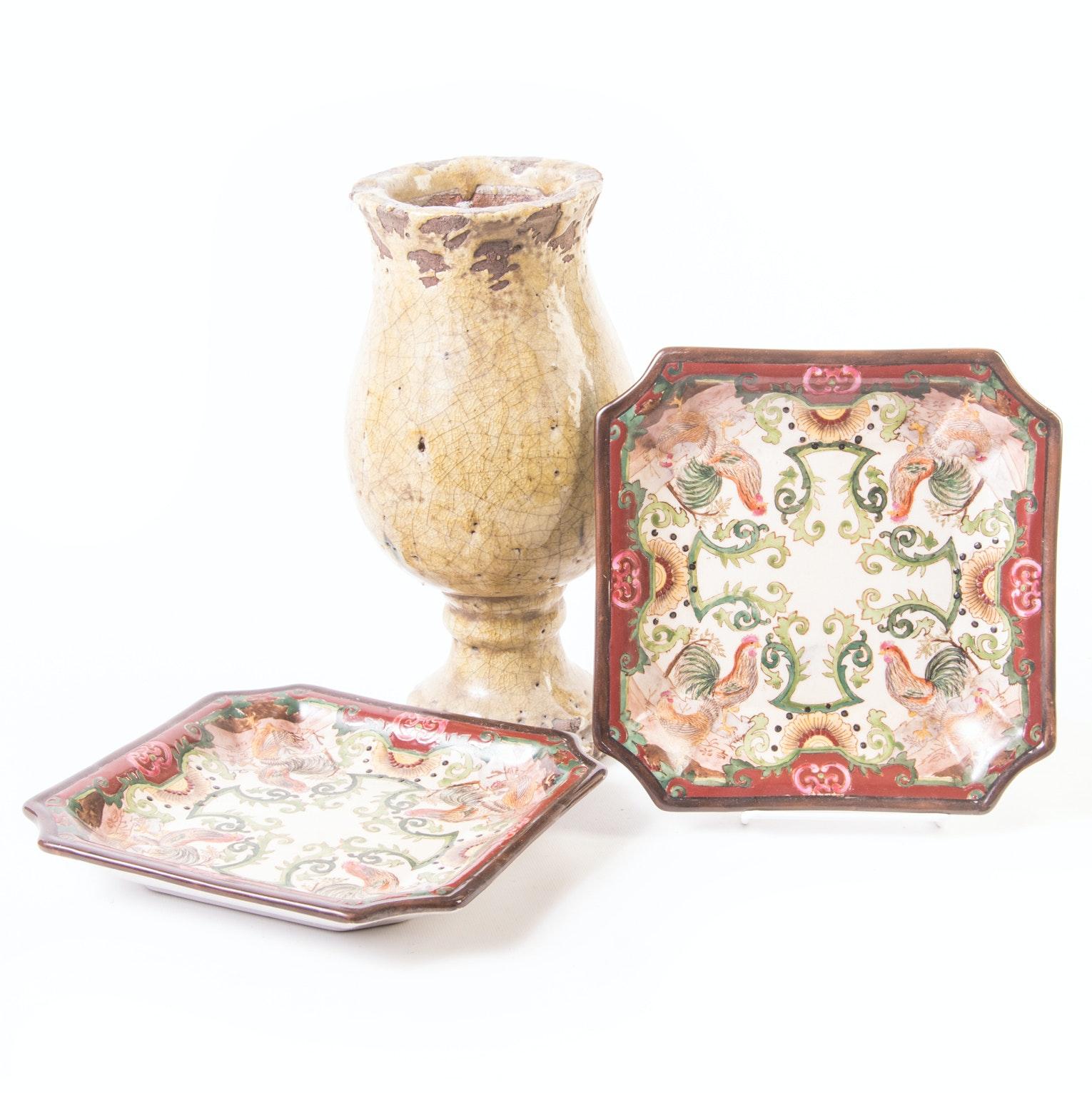 Glazed Pottery Grouping