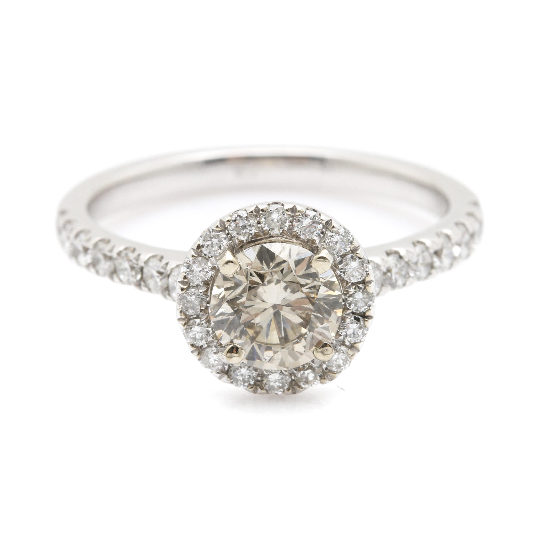 14K White Gold 1.31 CTW Diamond Ring