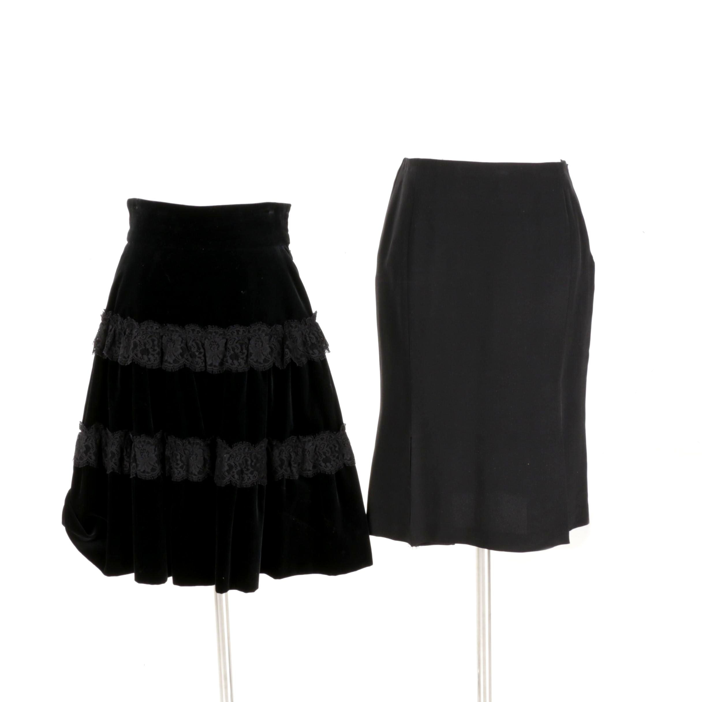 Valentino and Oscar de la Renta Black Skirts