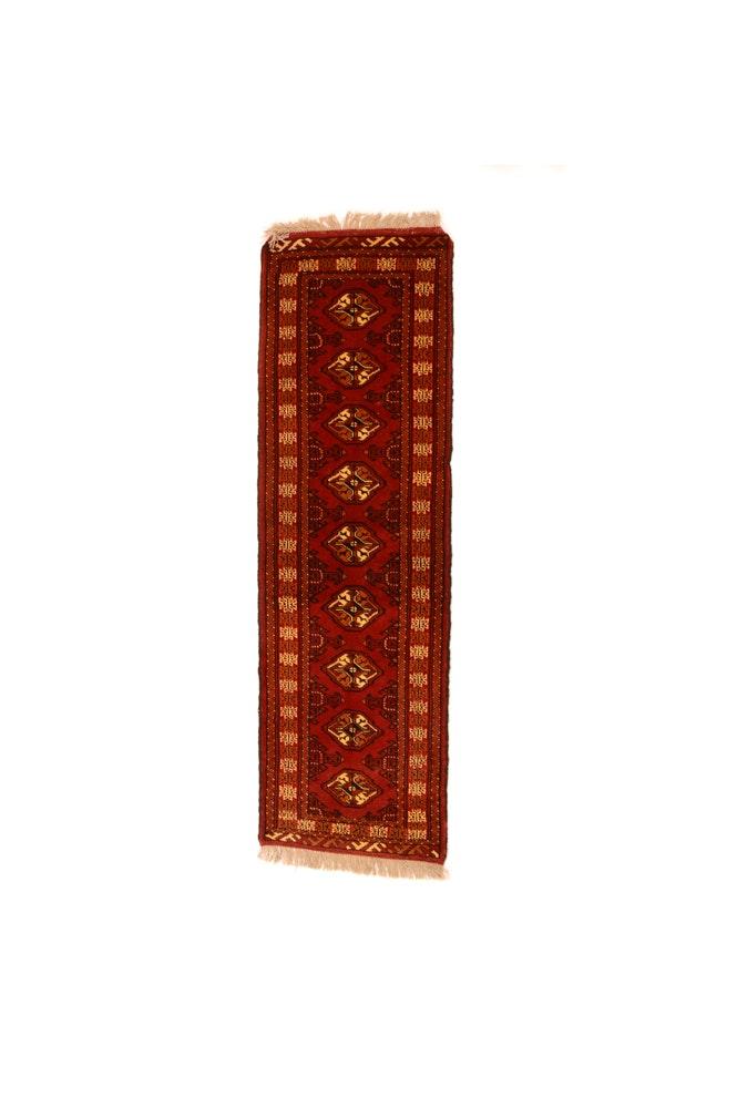 Hand-Knotted Bokhara Carpet Runner