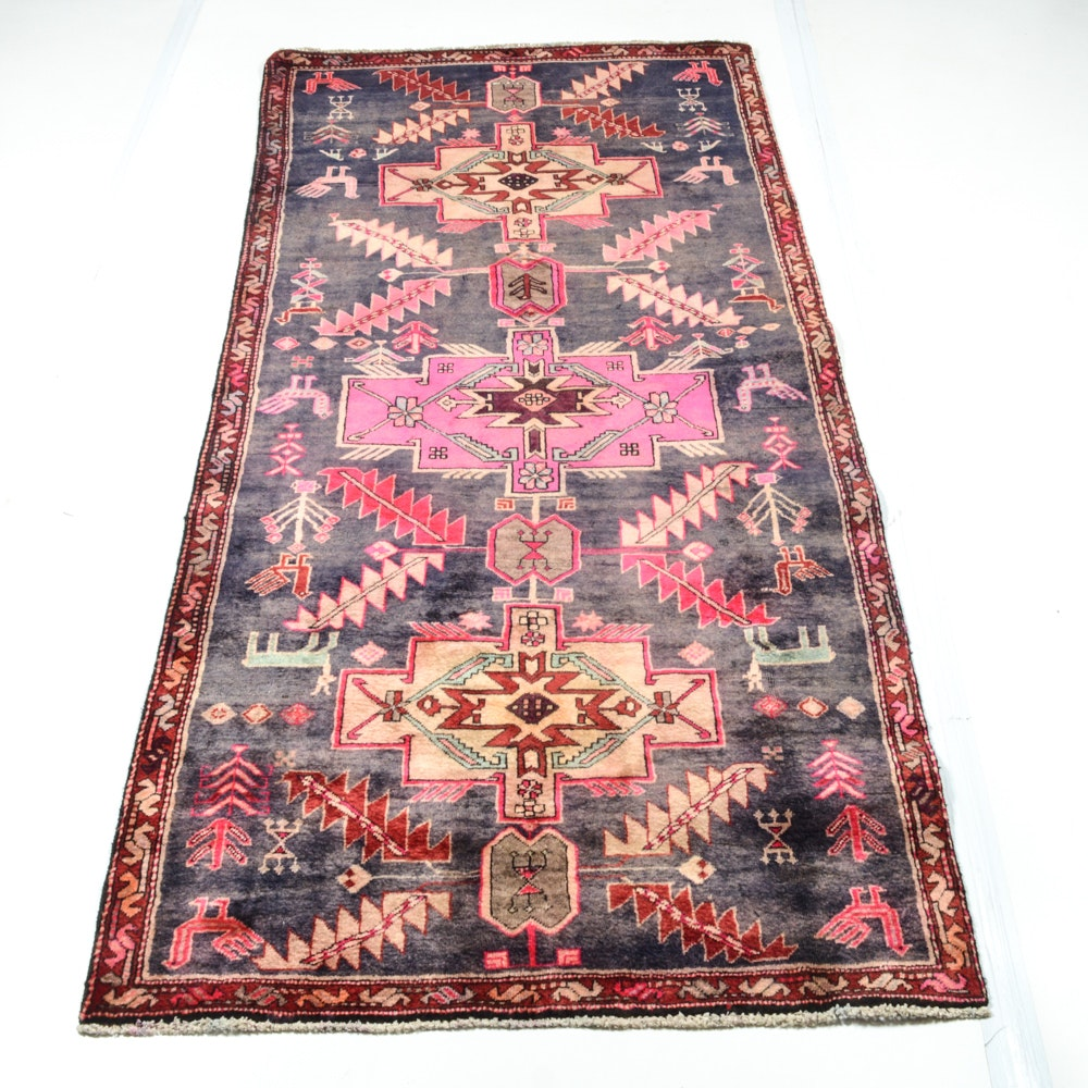 4' x 8' Semi-Antique Hand-Knotted Northwest Persia Pictorial Rug
