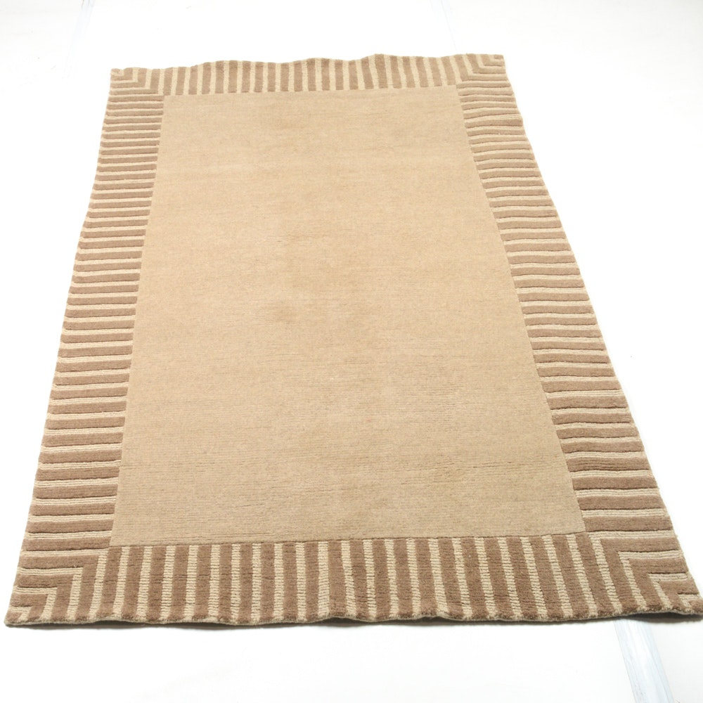 5' x 8' Mid Century Style Hand-Knotted Nepali Rug