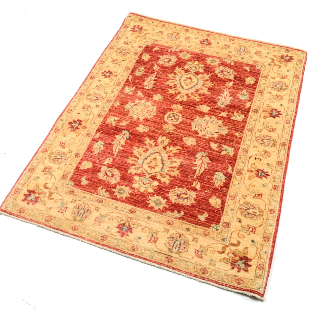 4' x 5' Fine Hand-Knotted Pakistani-Turkish Oushak Rug