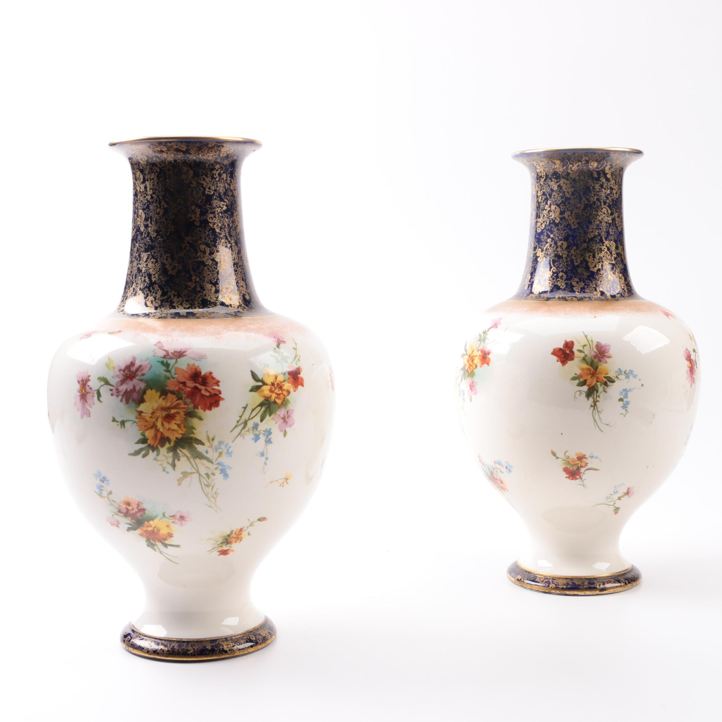 Antique Doulton Burslem Vases