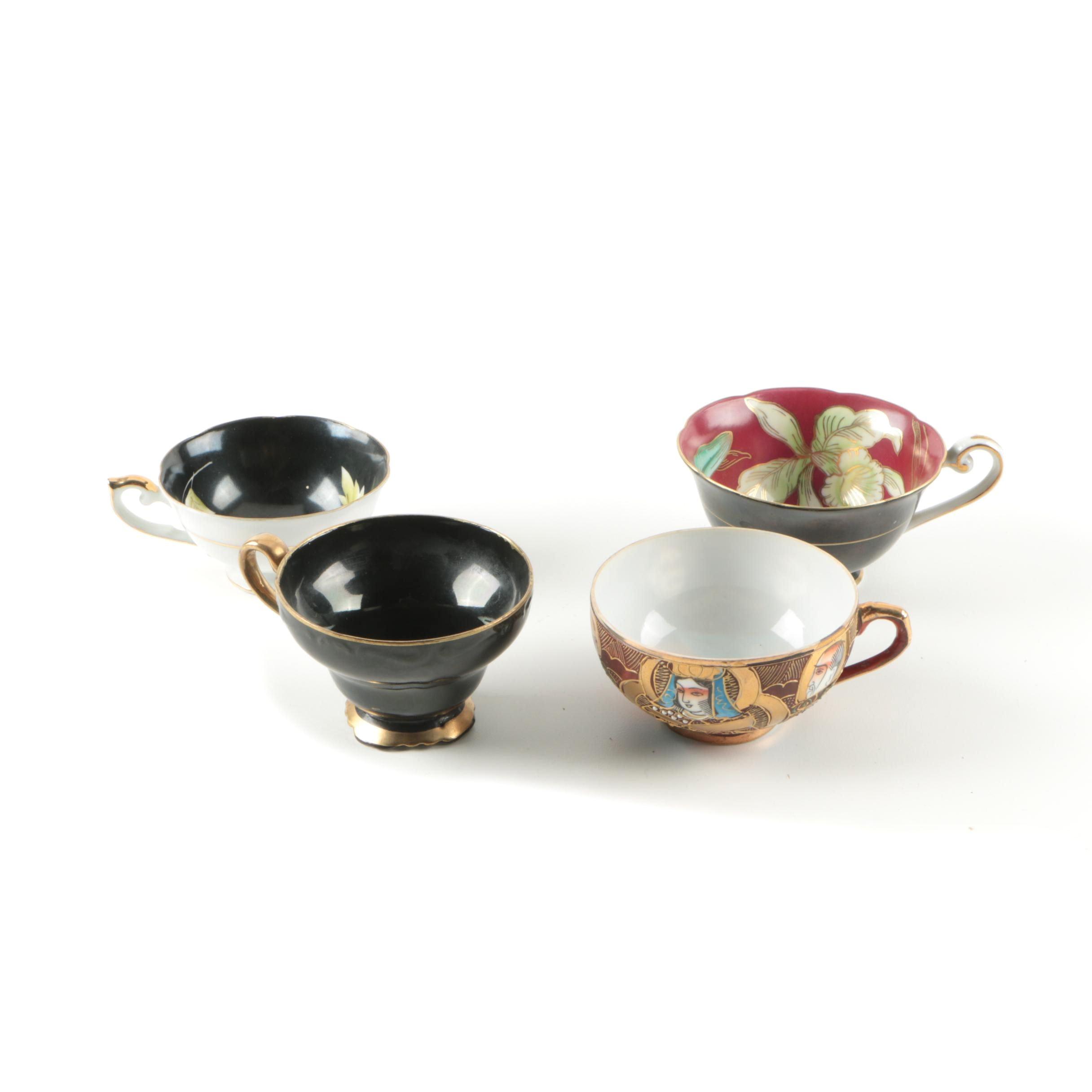 Vintage Lithopane Teacup and Other Japanese Teacups