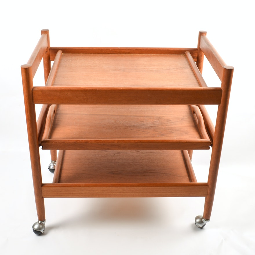 Mid Century Modern Bar Cart By Dixie Furniture Company Ebth