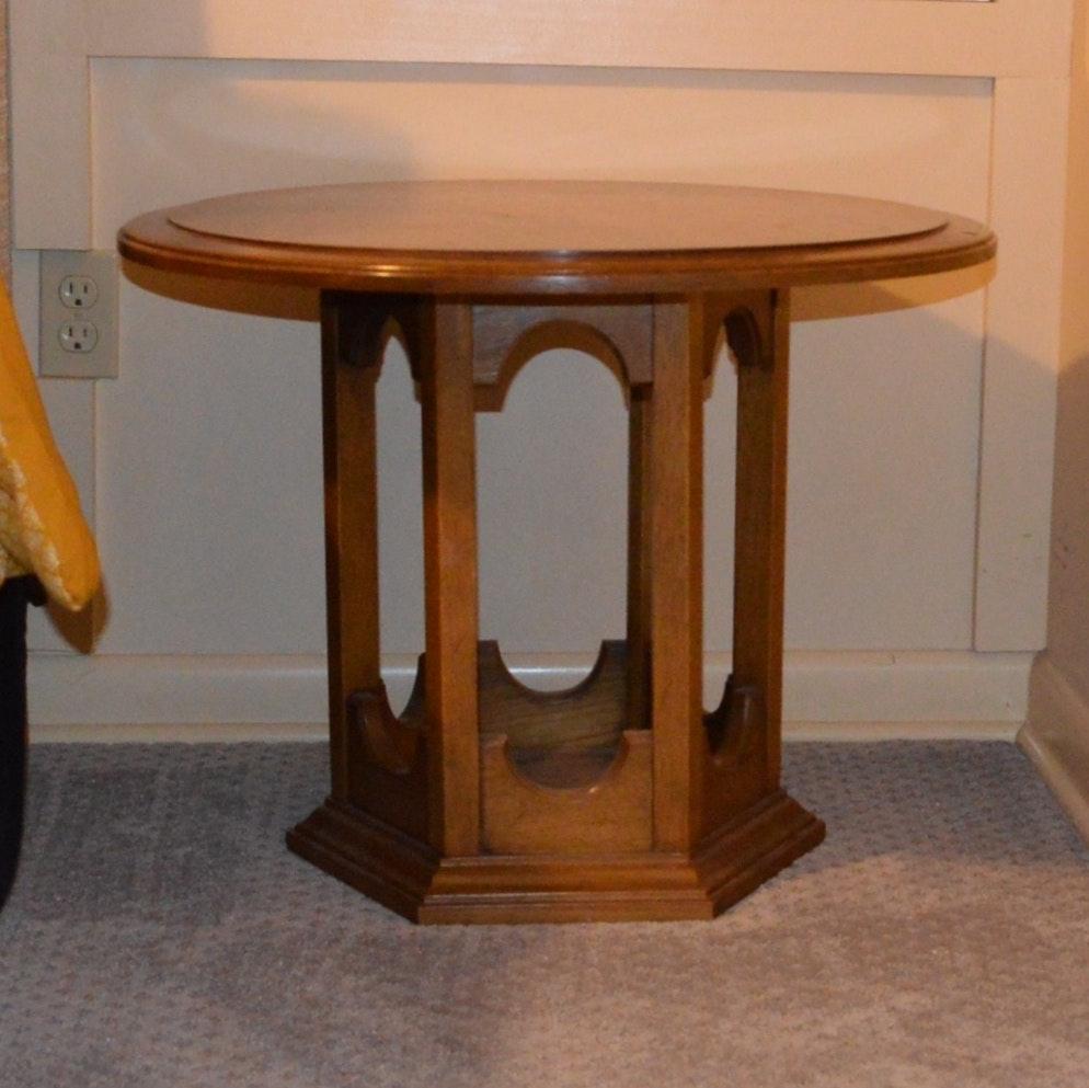 Vintage Hekman Oak Side Table