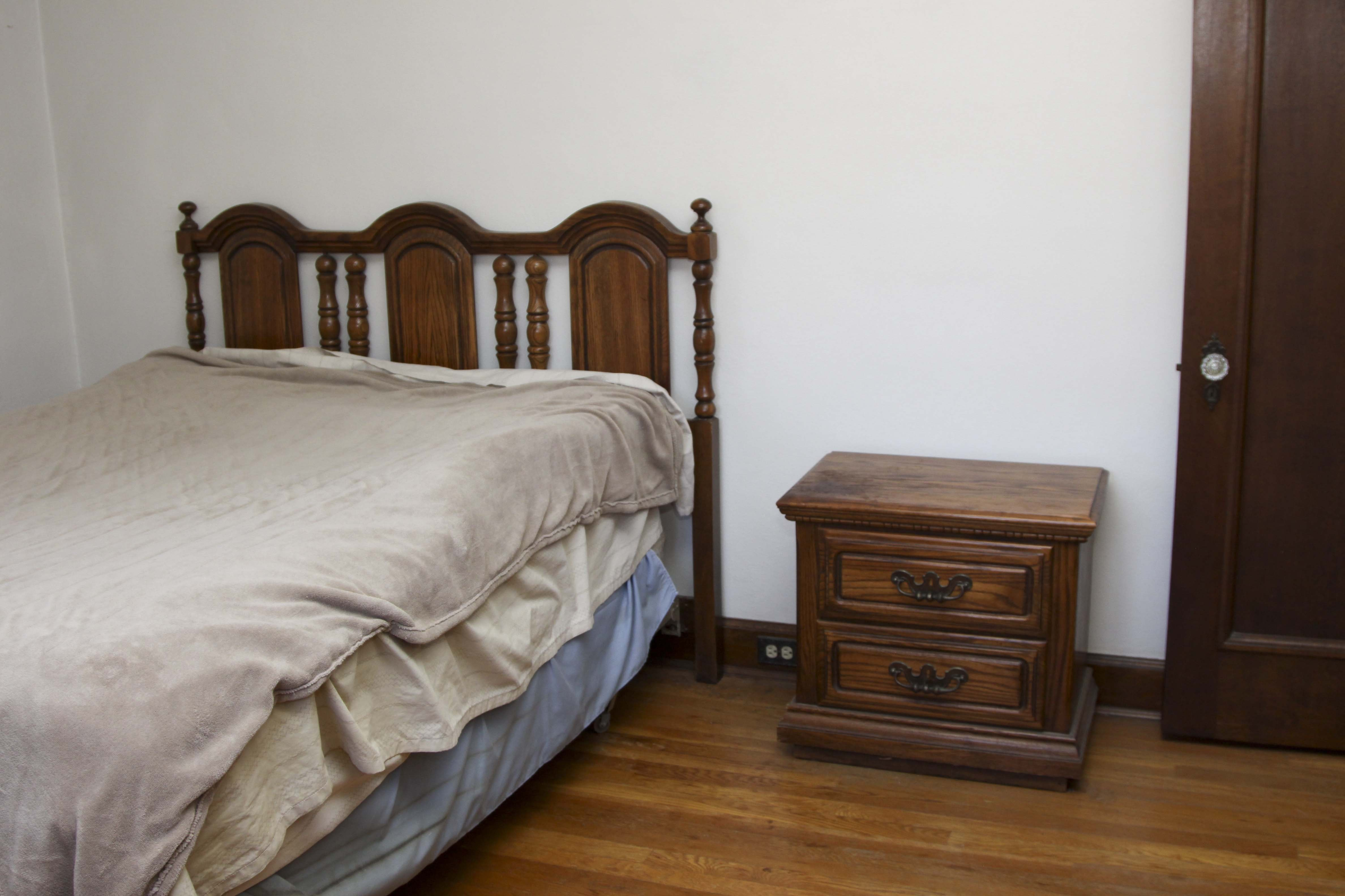 Vintage Full Size Headboard and Nightstand