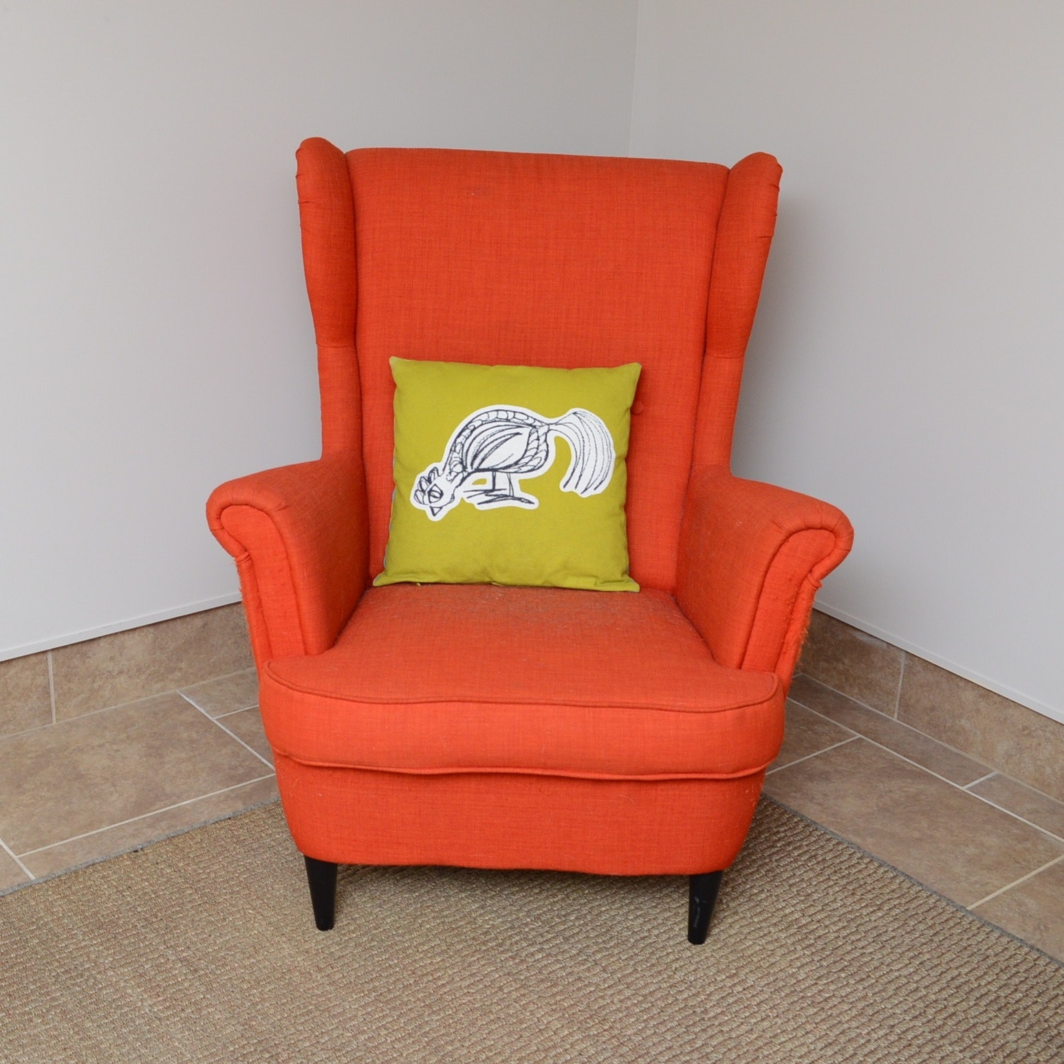 Danish Modern Style Wing Back Chair