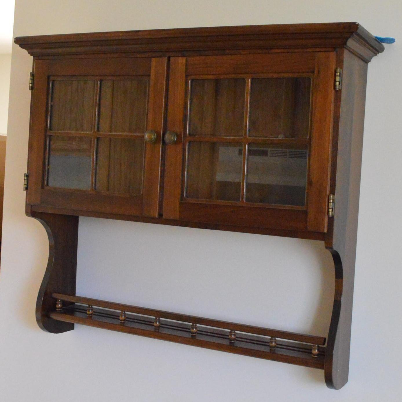 Vintage Hanging Curio Cabinet