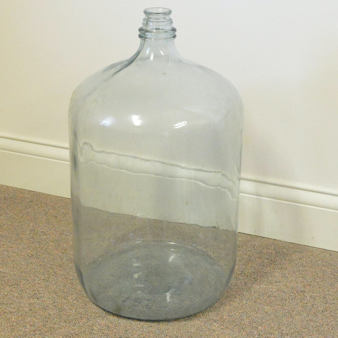 Large Clear Glass Bottle