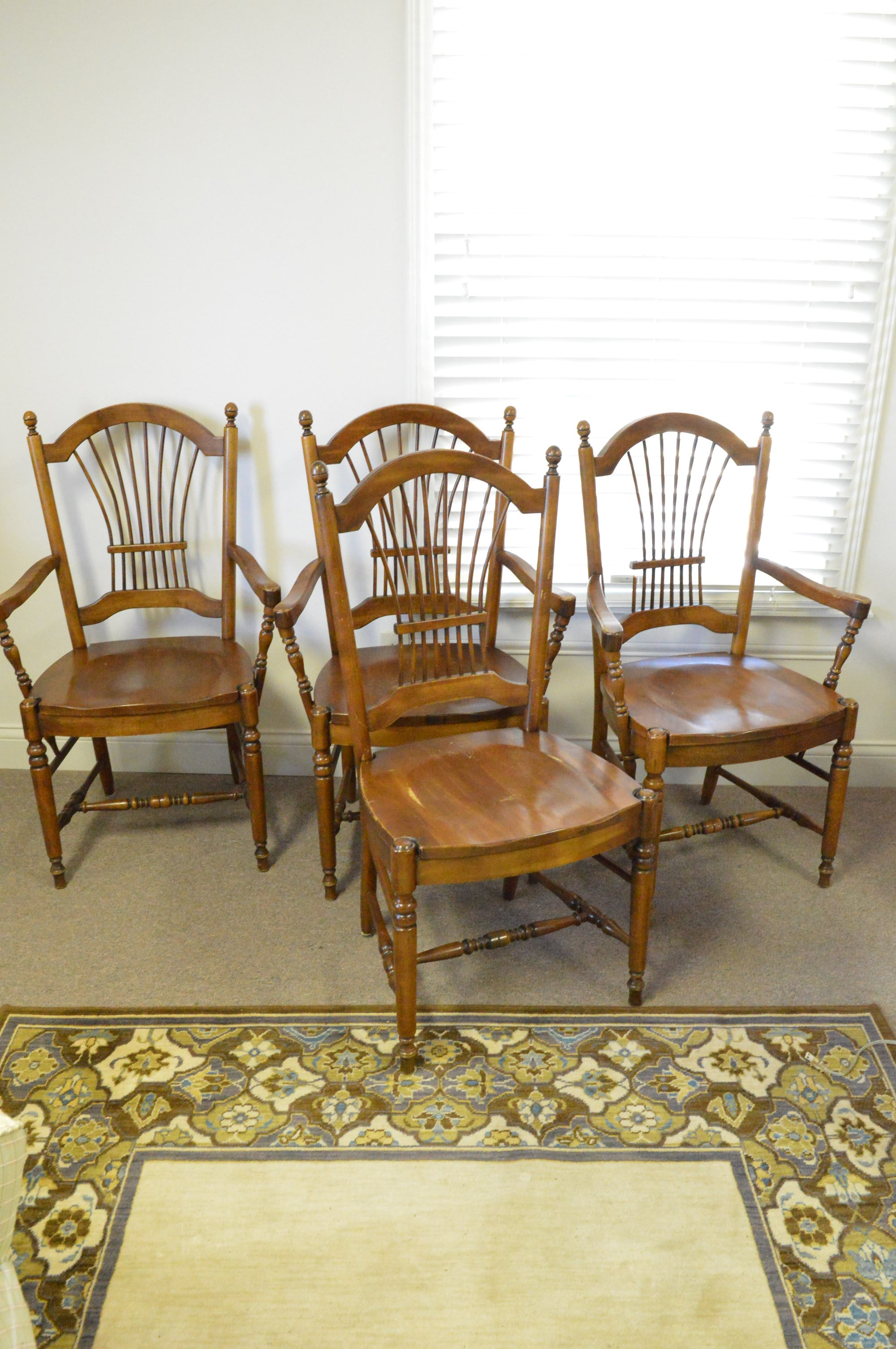 Walnut Windsor Dining Chairs