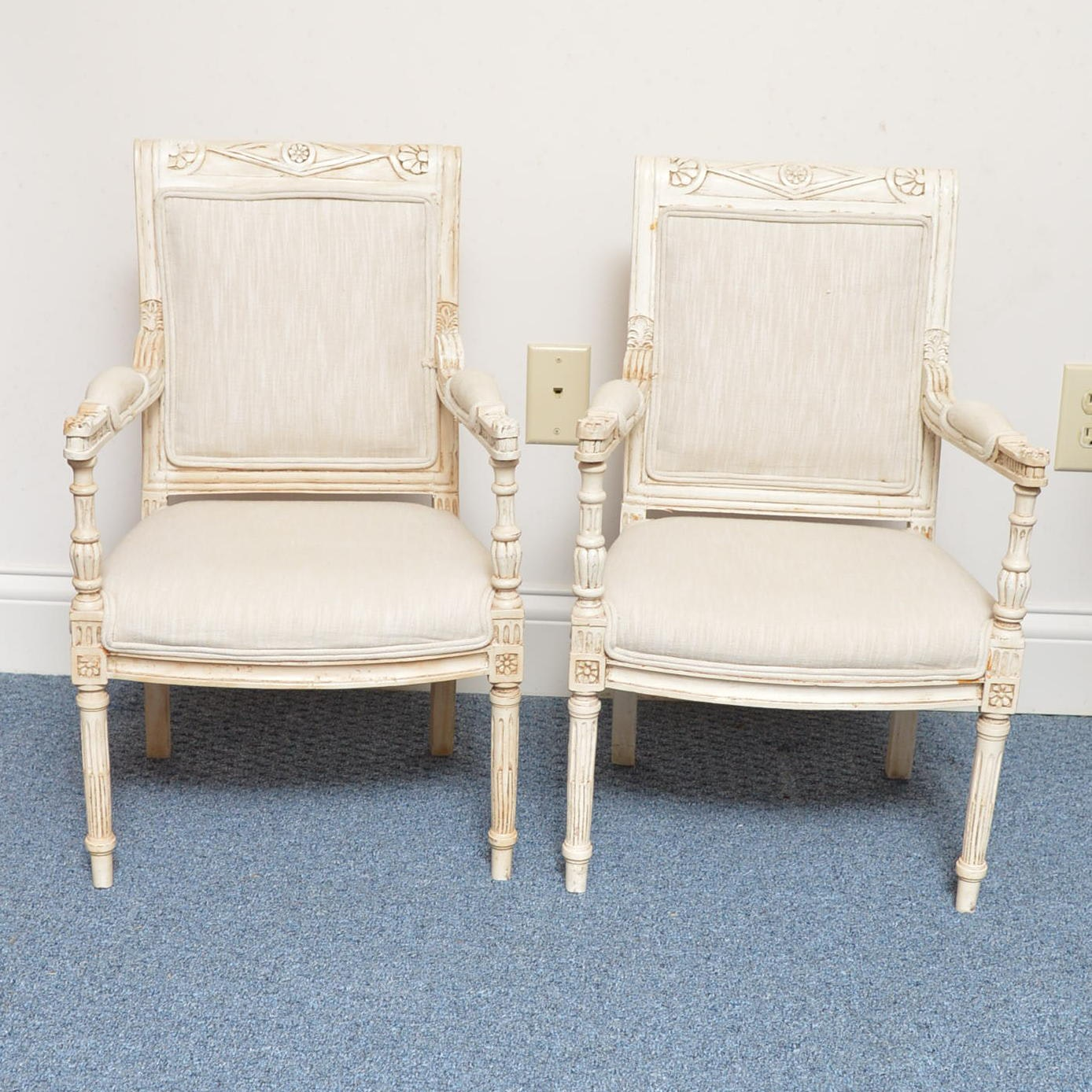 French Directoire-Style Painted Chairs for Children