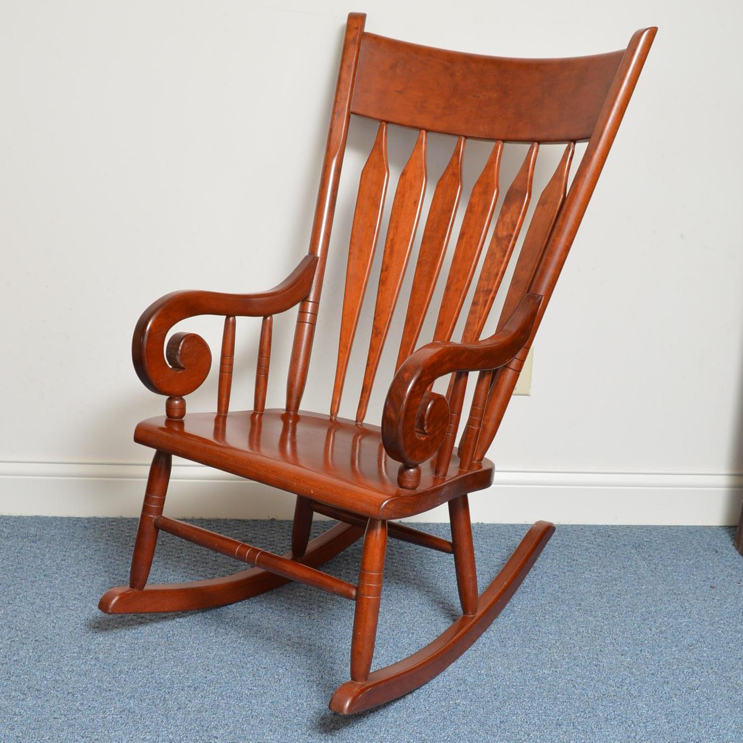 Arrow Back Cherry Rocking Chair