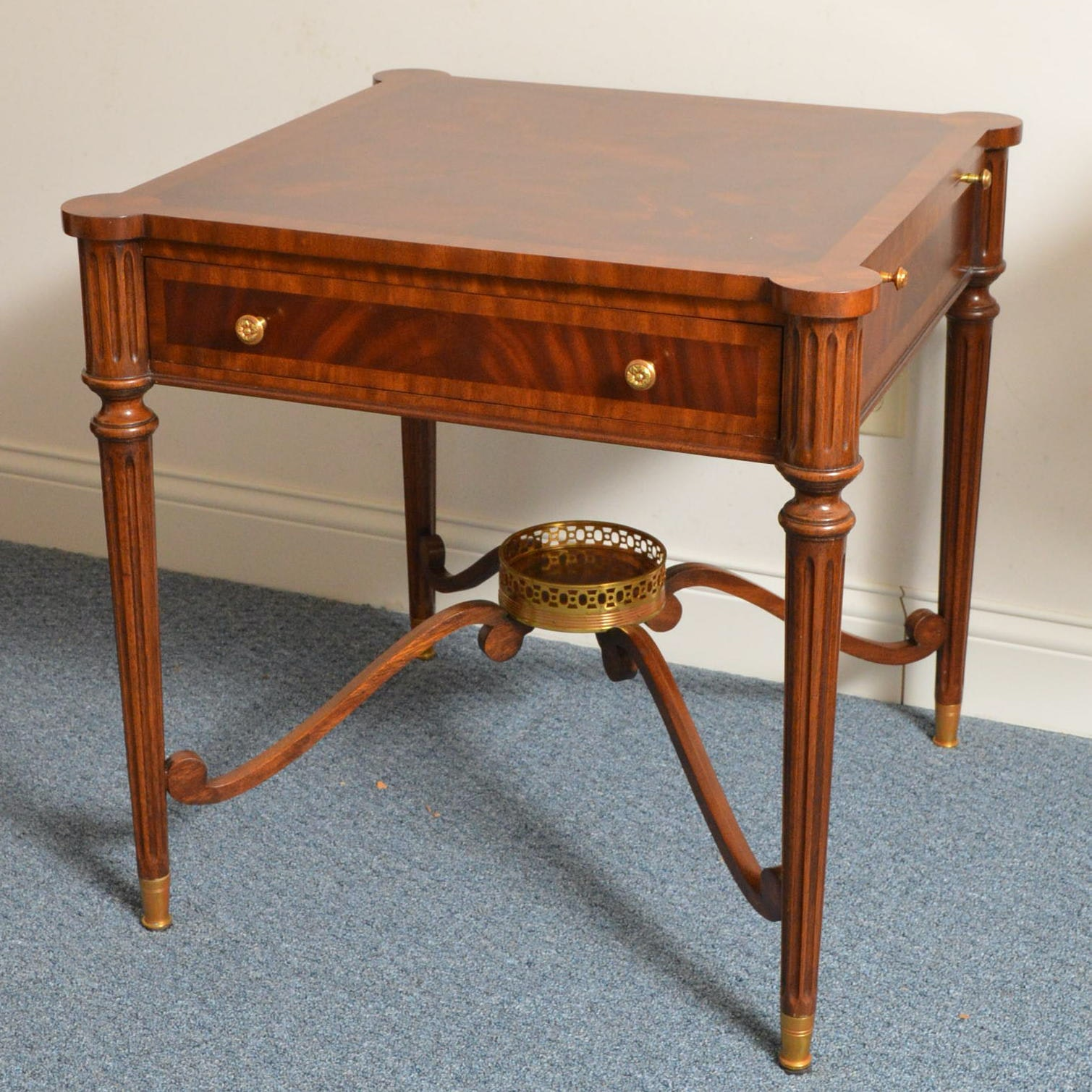 Georgian Style Mahogany End Table by Maitland-Smith