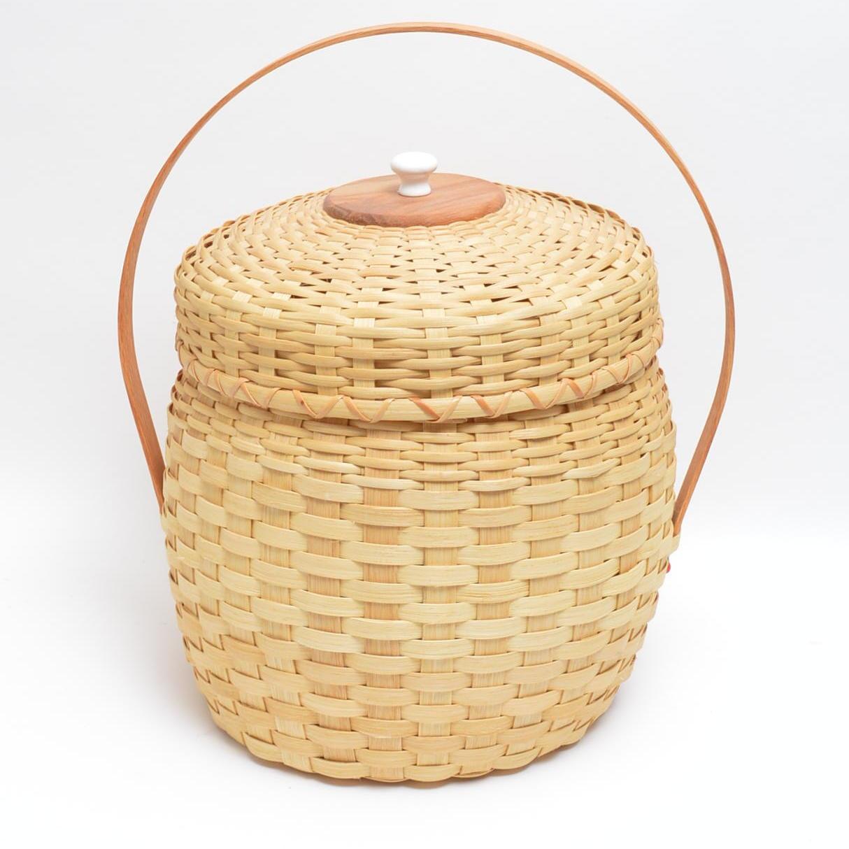 Handwoven Ladybug Basket