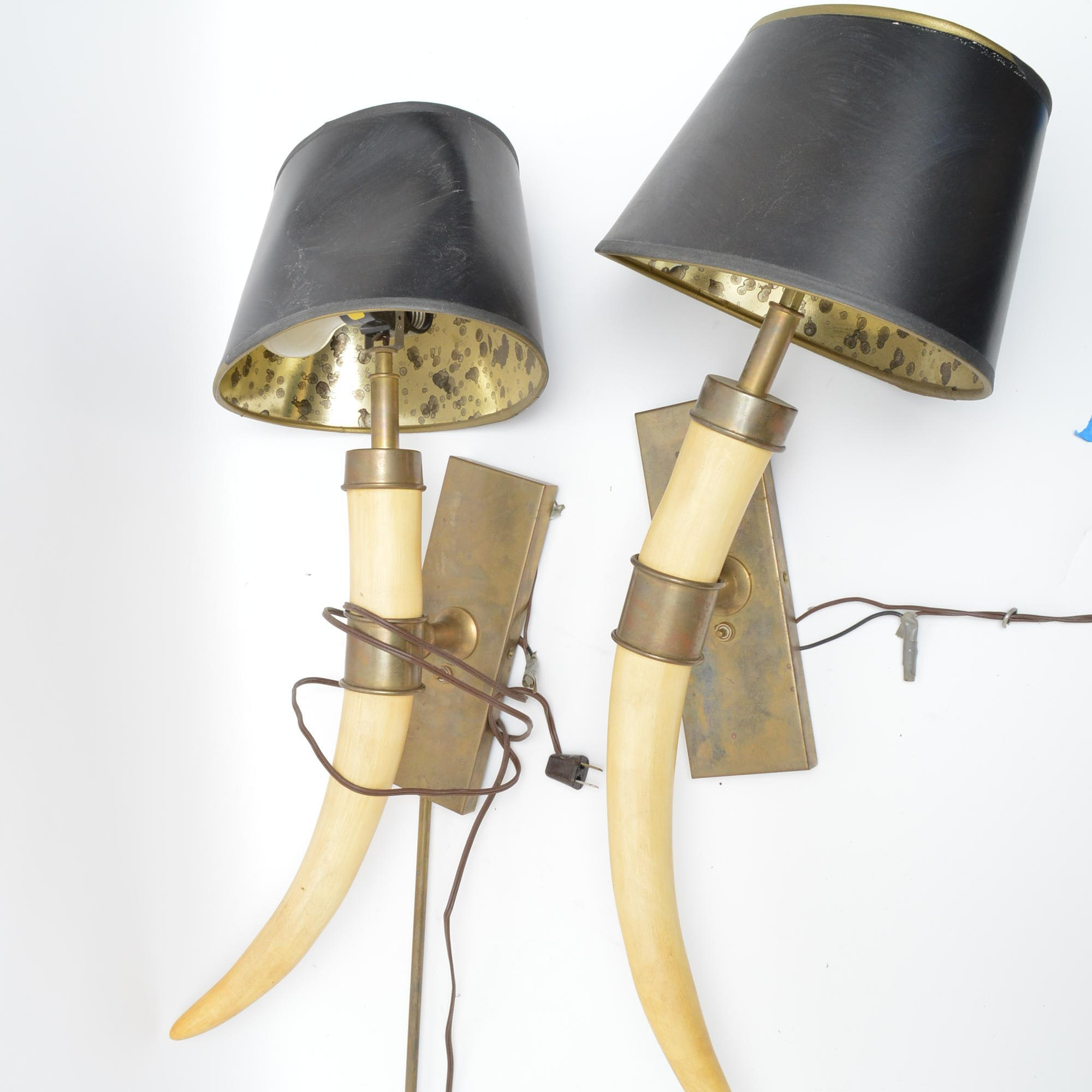 Steer Horn Wall Sconces