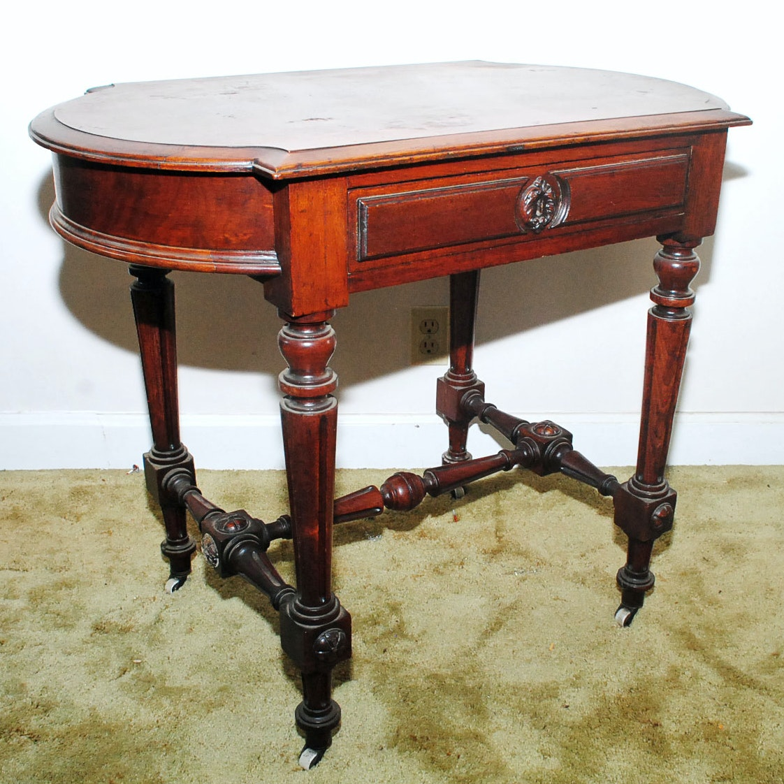 Antique American Renaissance Revival Writing Table