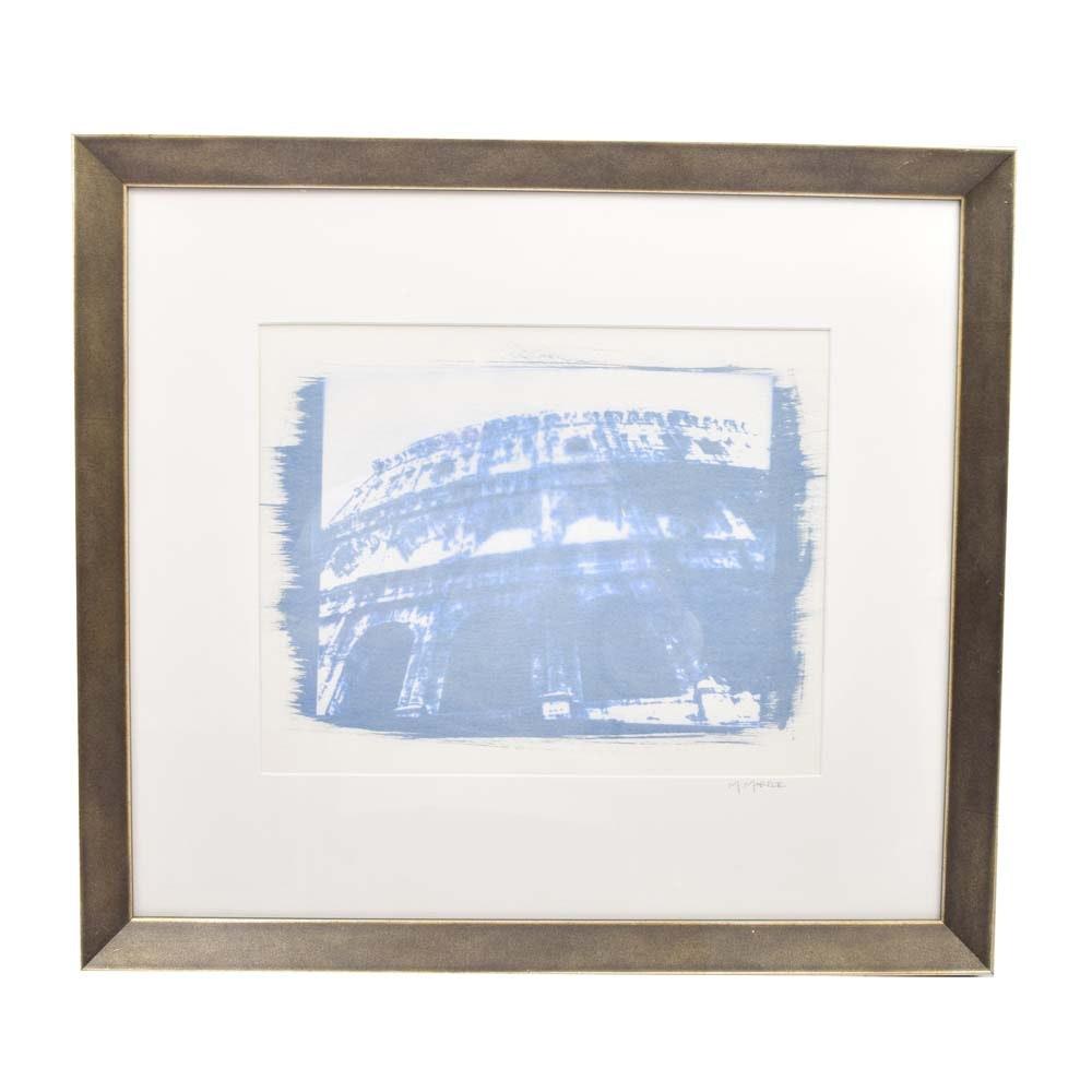 "Meghan Marple Gum Bichromate Print ""Coliseum"""
