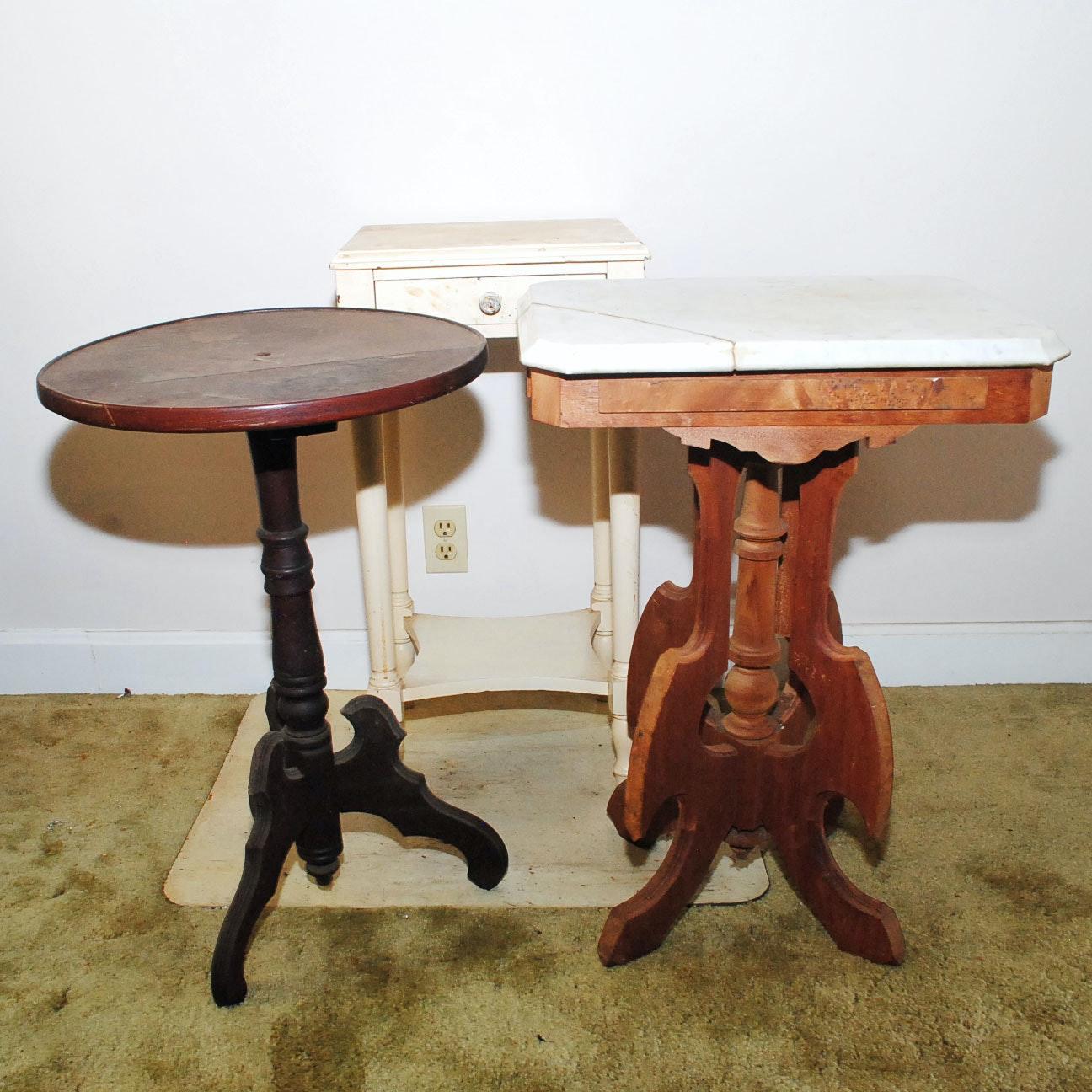 Vintage Wooden Side Tables