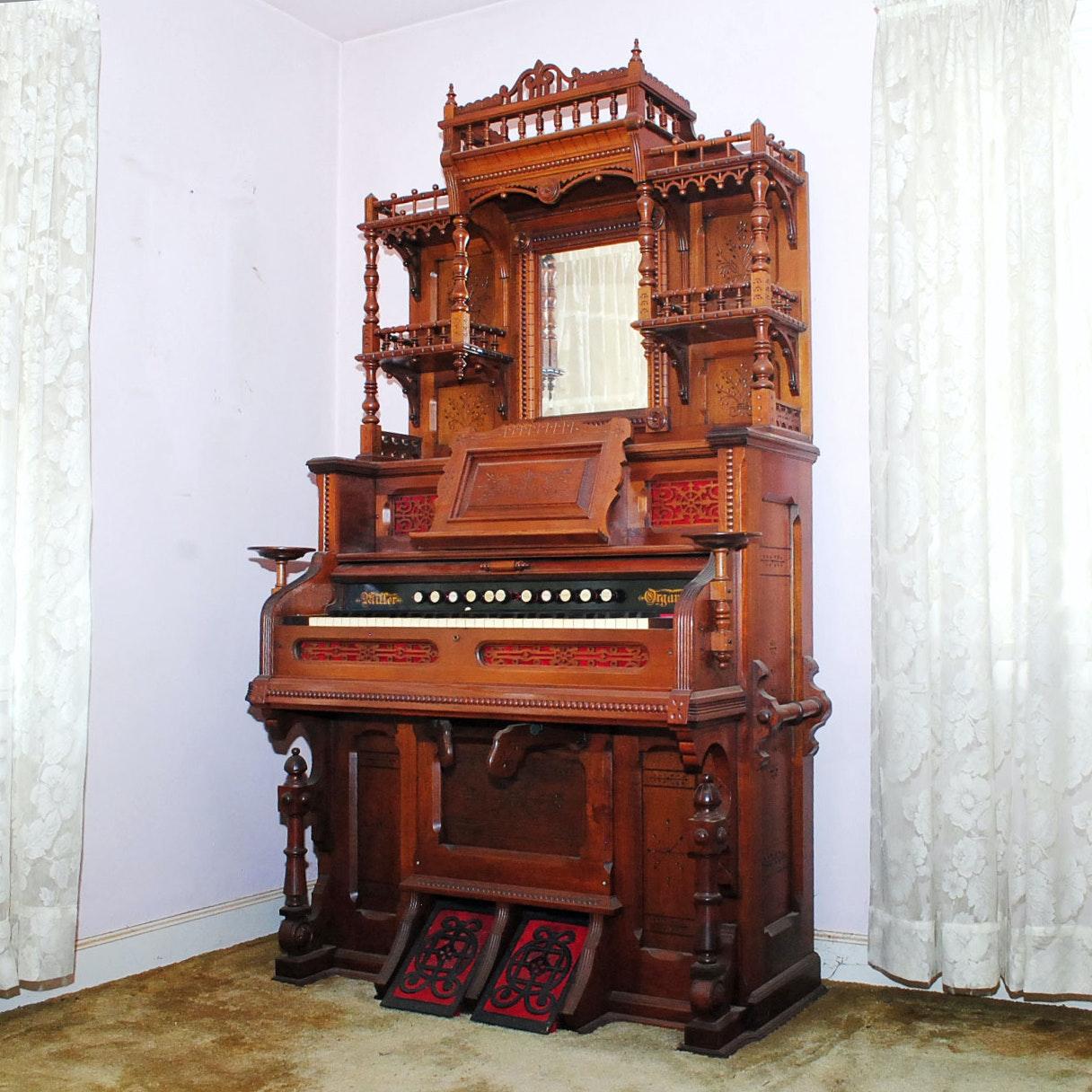 Antique Eastlake Miller Company Pump Organ