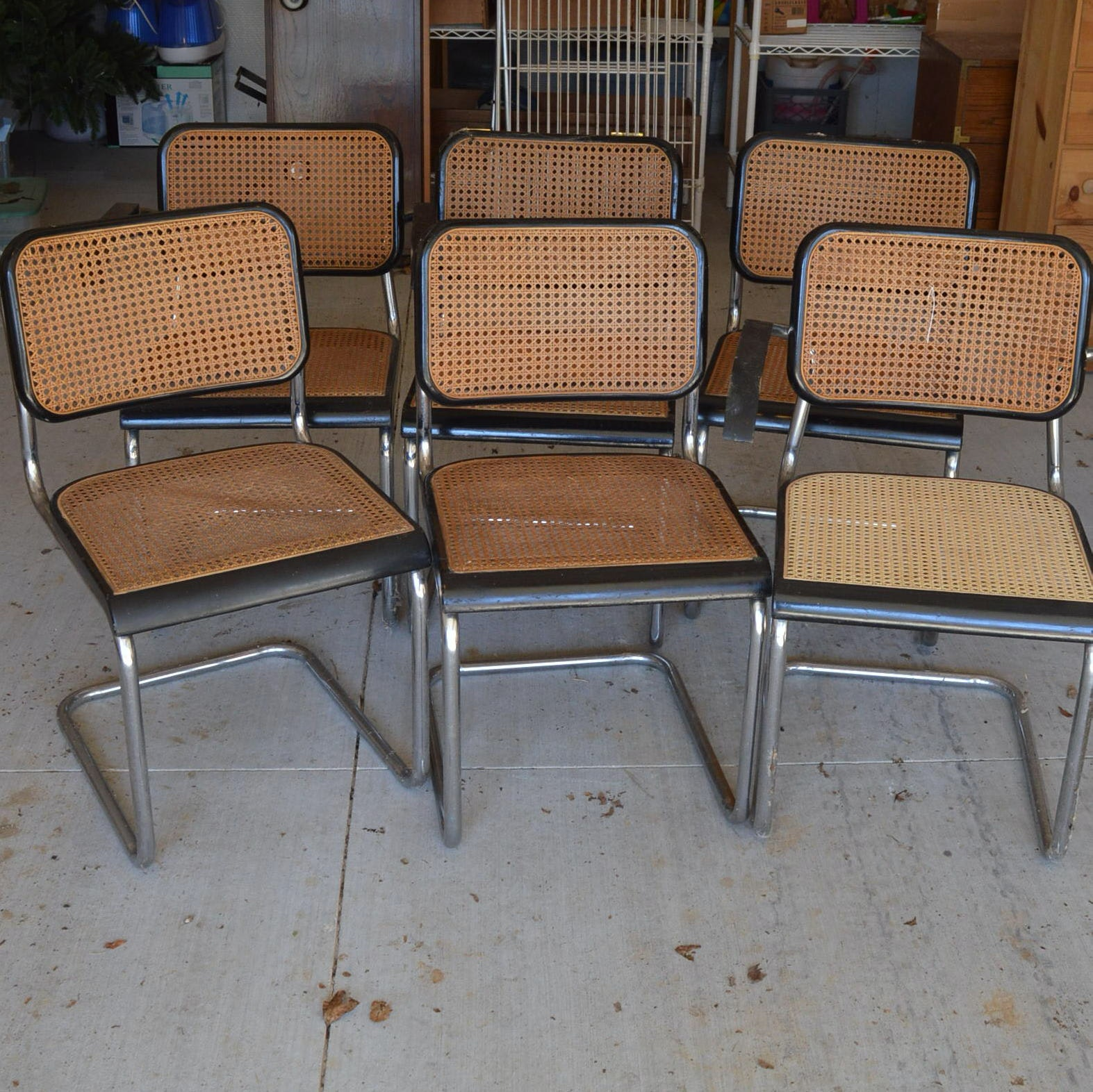 "Set of Mid Century Modern ""Cesca"" Style Dining Chairs"