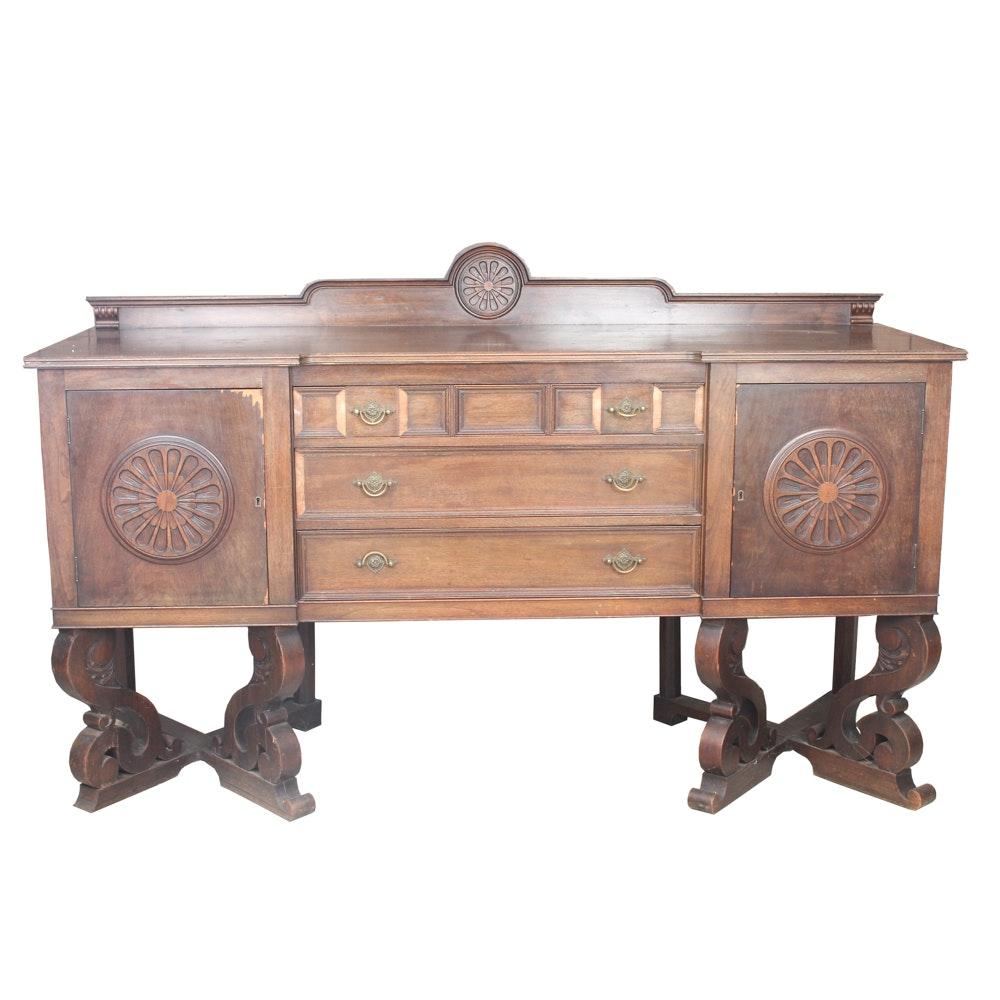 Vintage Jacobean Revival Style Buffet