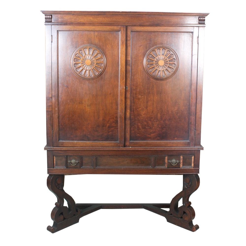Ordinaire Vintage Jacobean Revival Lowboy Cabinet ...