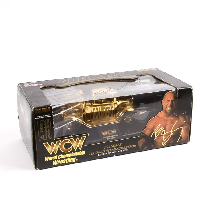 Bill Goldberg Signed Limited Edition WCW Gold Plated Die-Cast Streetrod