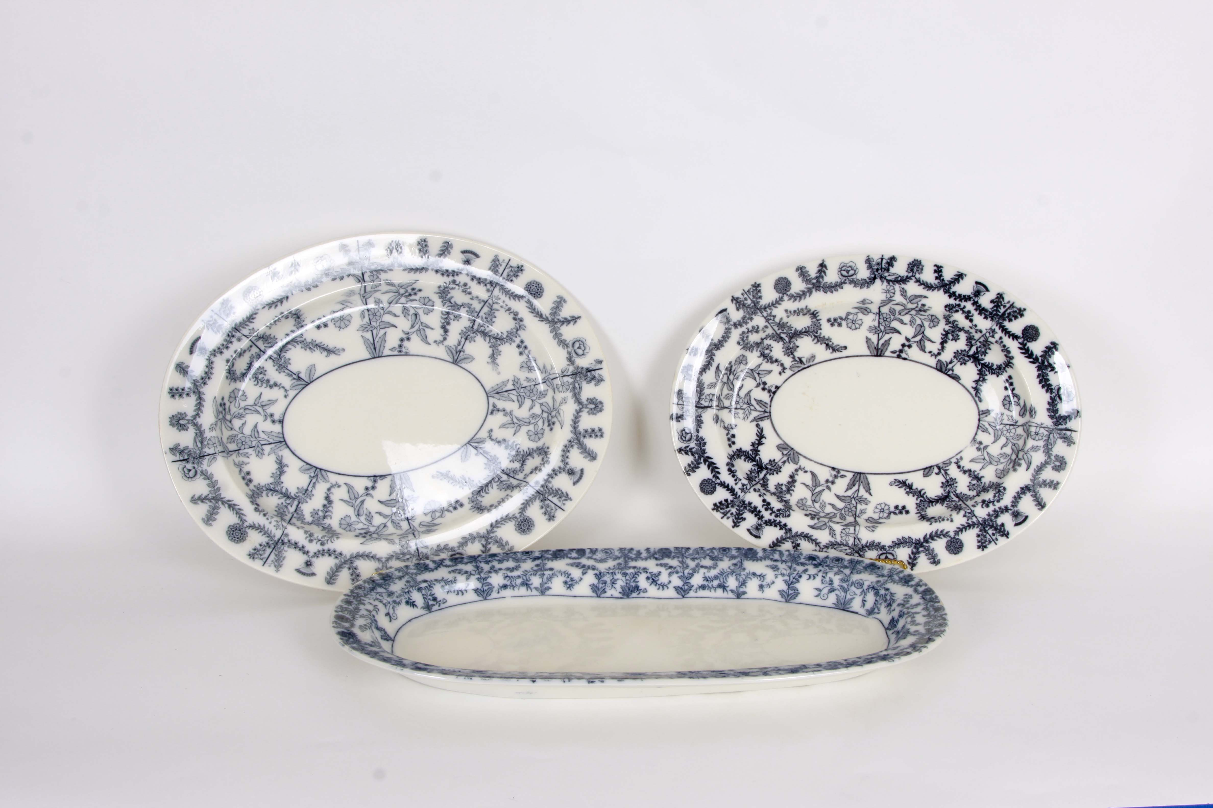 Vintage Blue and White Copeland Serving Platters