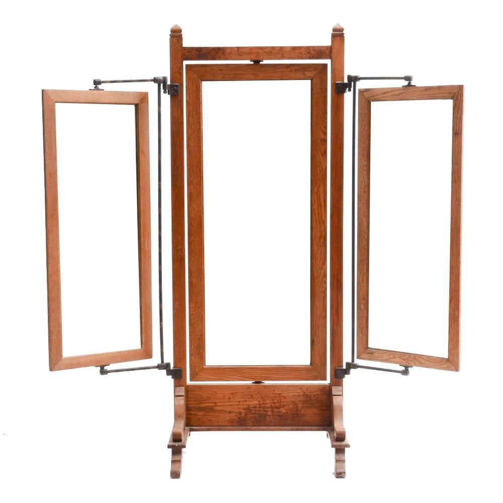 Victorian Three Panel Mirror